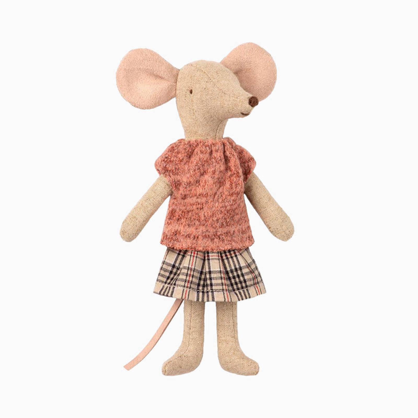 Mouse Mum In Clothes Soft Toy By Maileg