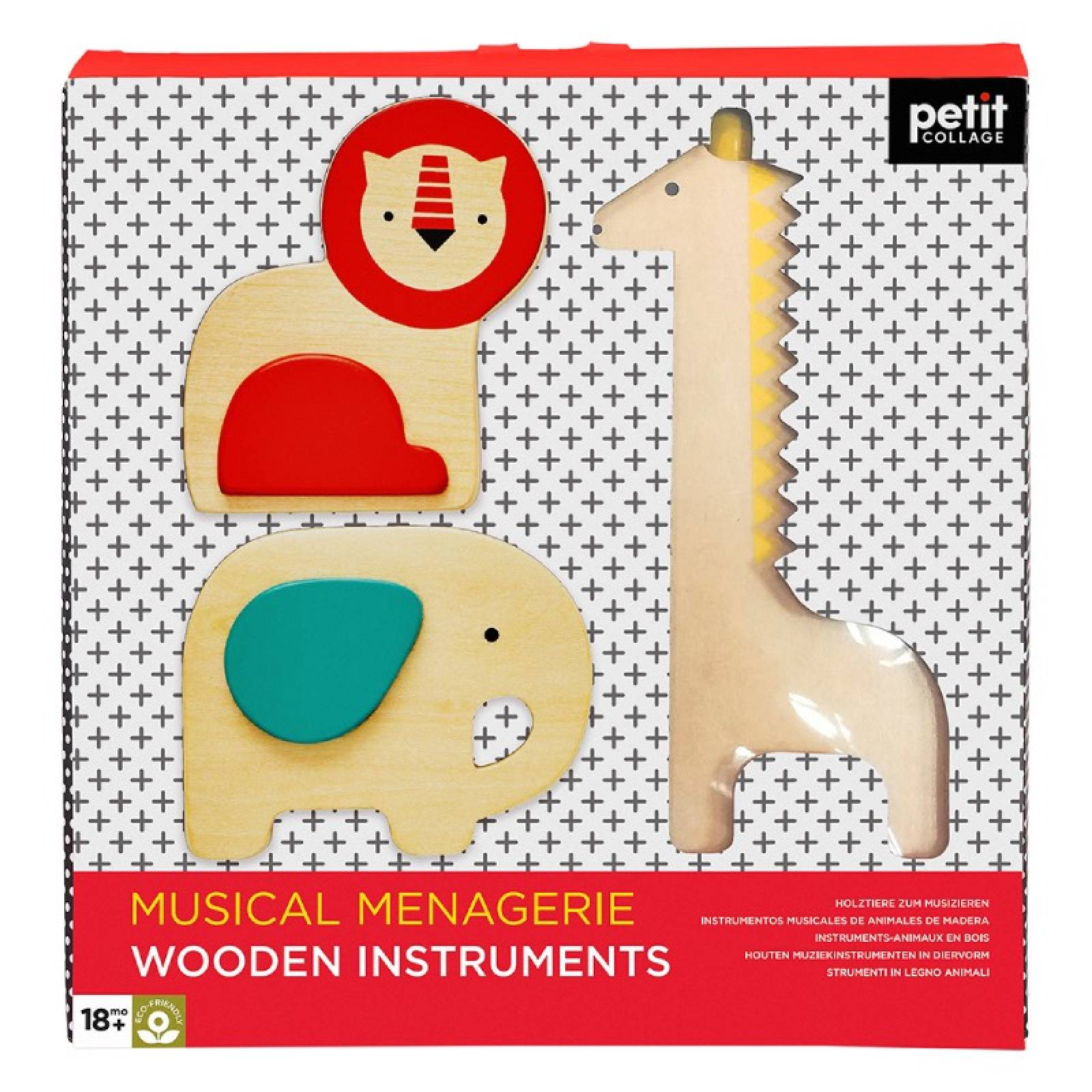 Musical Menagerie Wooden Instruments By Petit Collage 18m+ thumbnails
