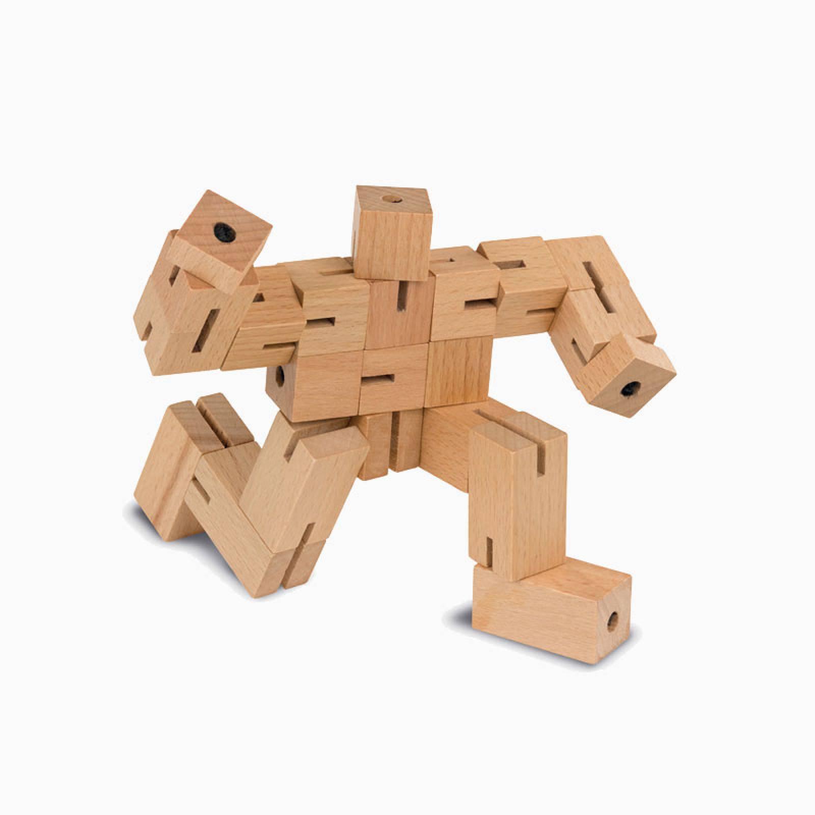 Natural Wooden Puzzleman Cube Puzzle thumbnails