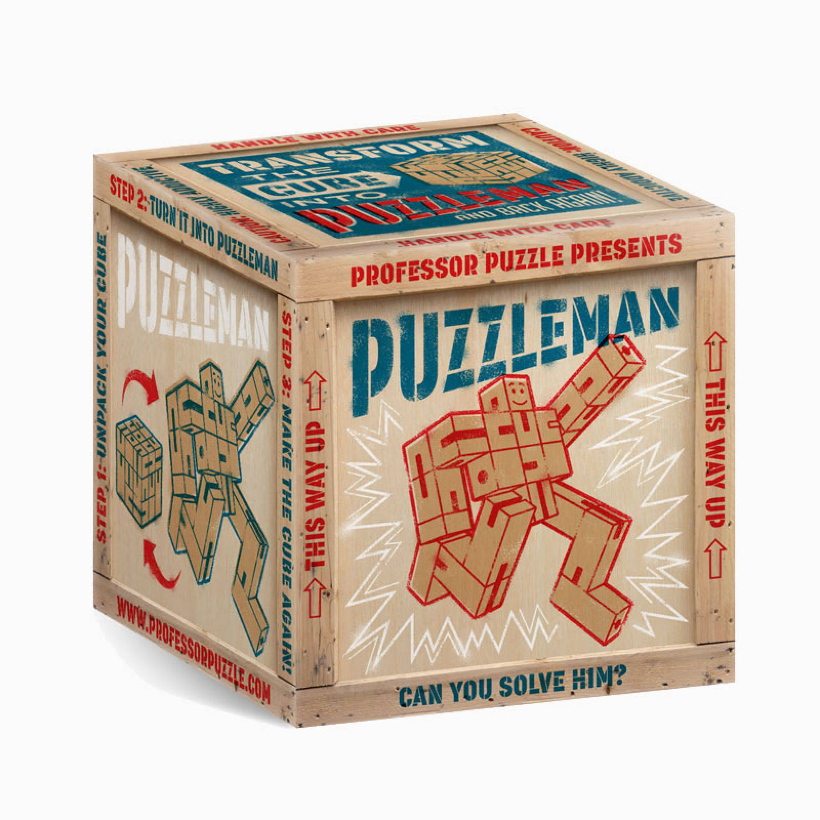 Natural Wooden Puzzleman Cube Puzzle