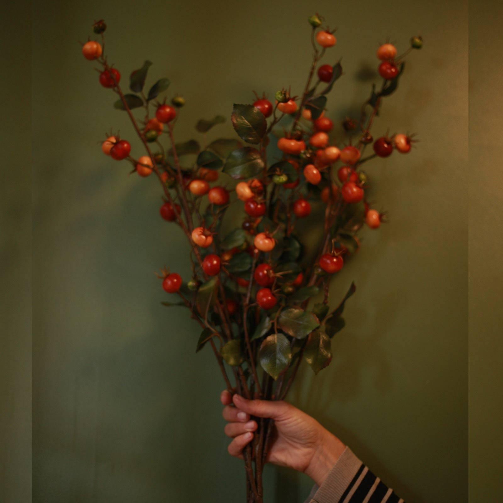 Faux Rose-Hip Plant Single Spray thumbnails