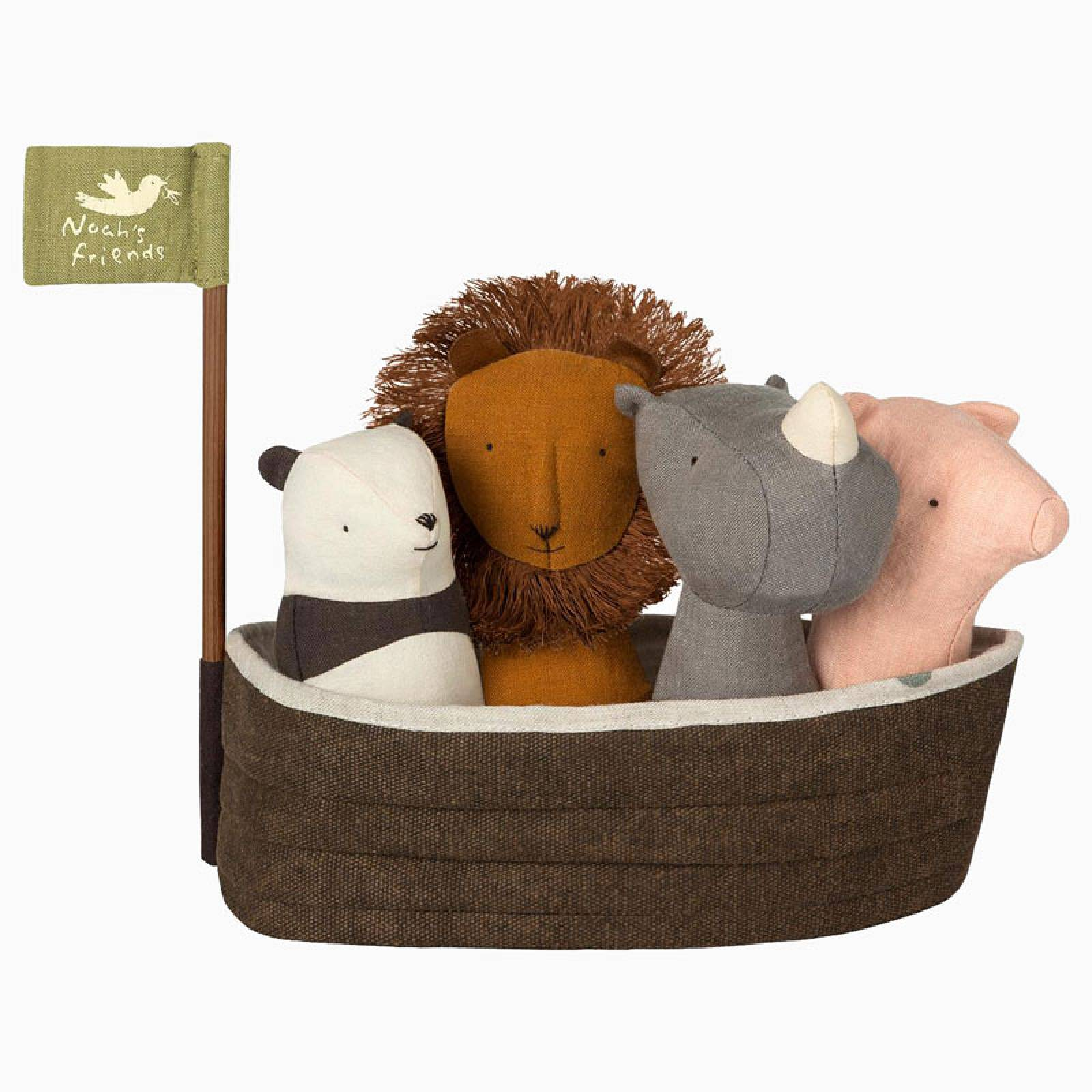 Noah's Ark With Soft Toy Rattles By Maileg 0+