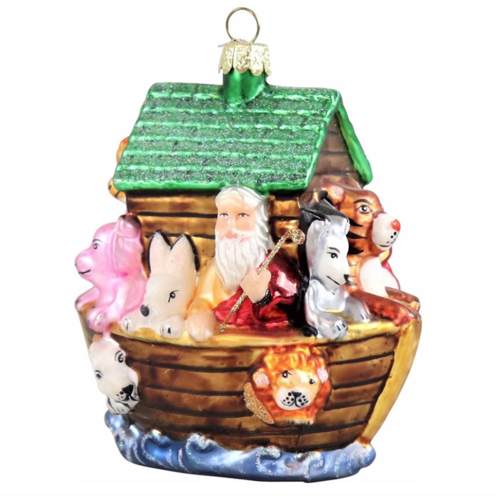 Noahs Ark Glass Christmas Decoration