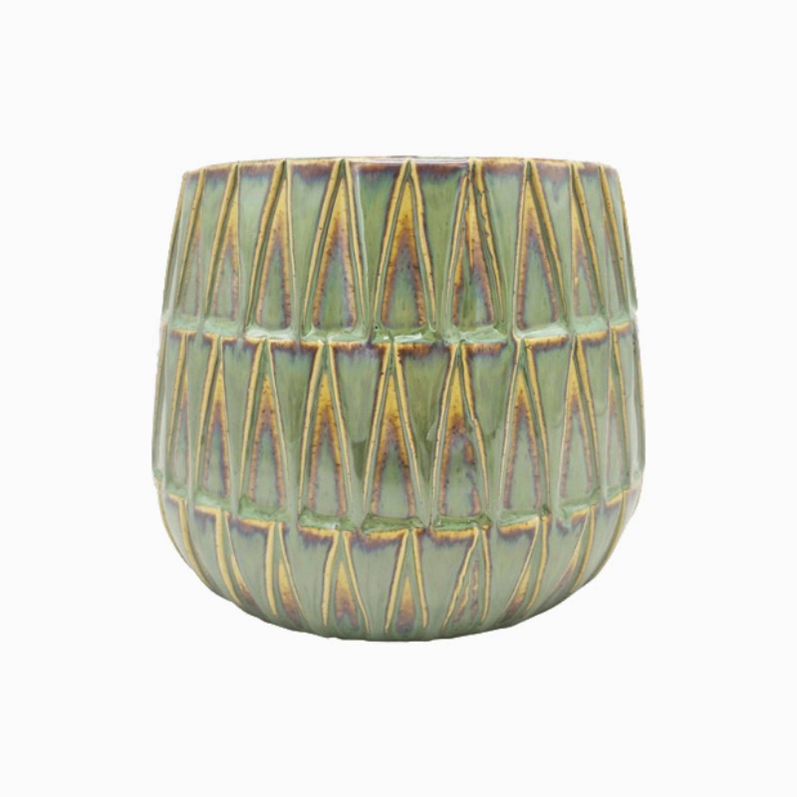 Nomad Large Green Patterned Plant Pot thumbnails