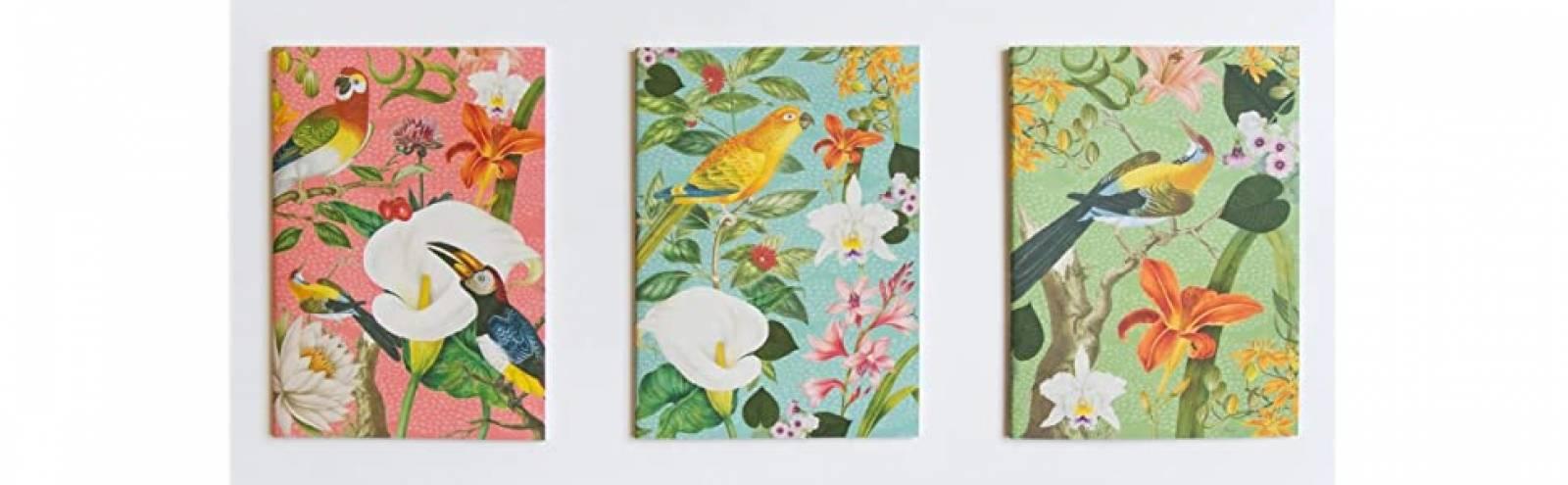 Set Of 3 Notebooks - Exotic Notebook set RHS