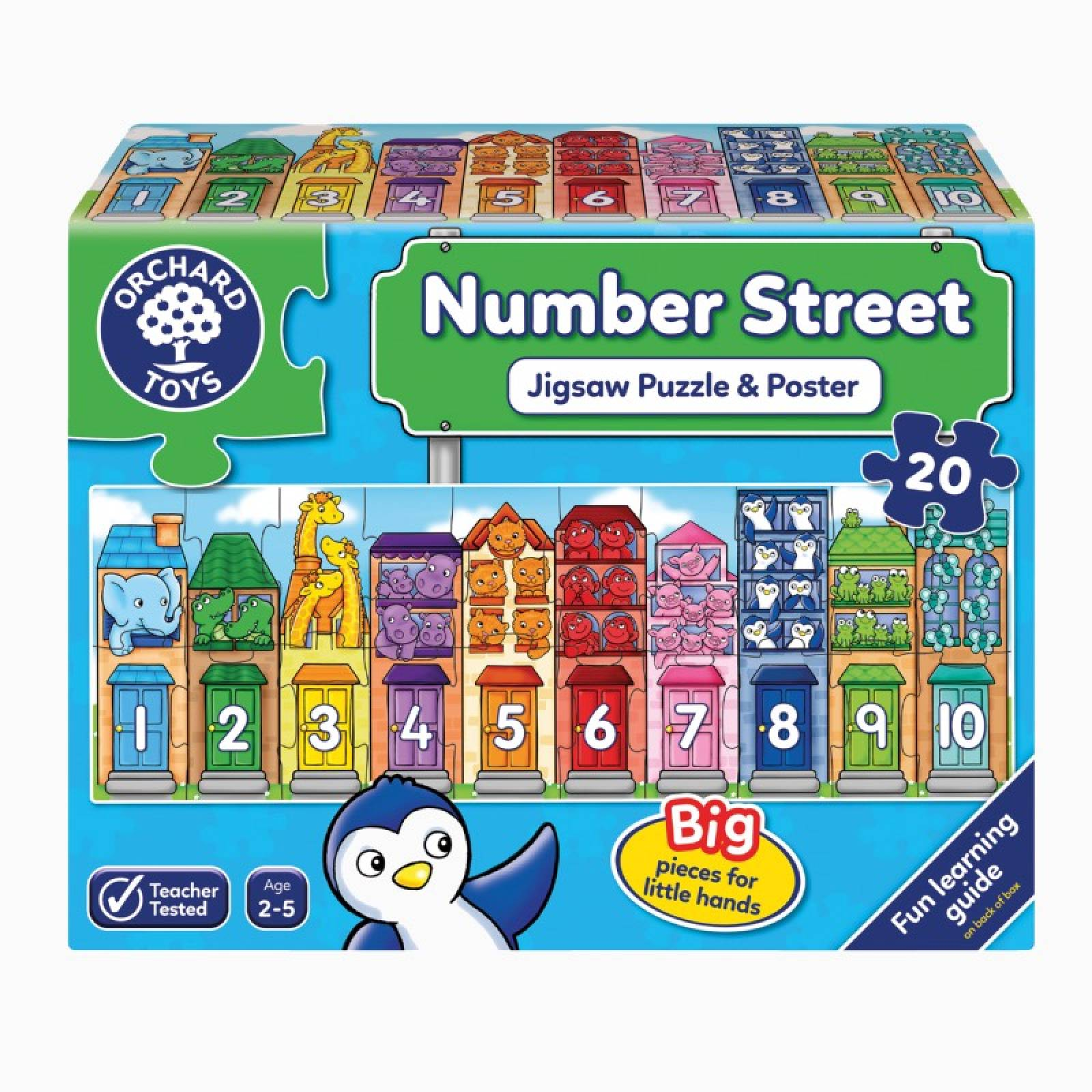 Number Street - 20 Piece Jigsaw Puzzle By Orchard Toy 2+
