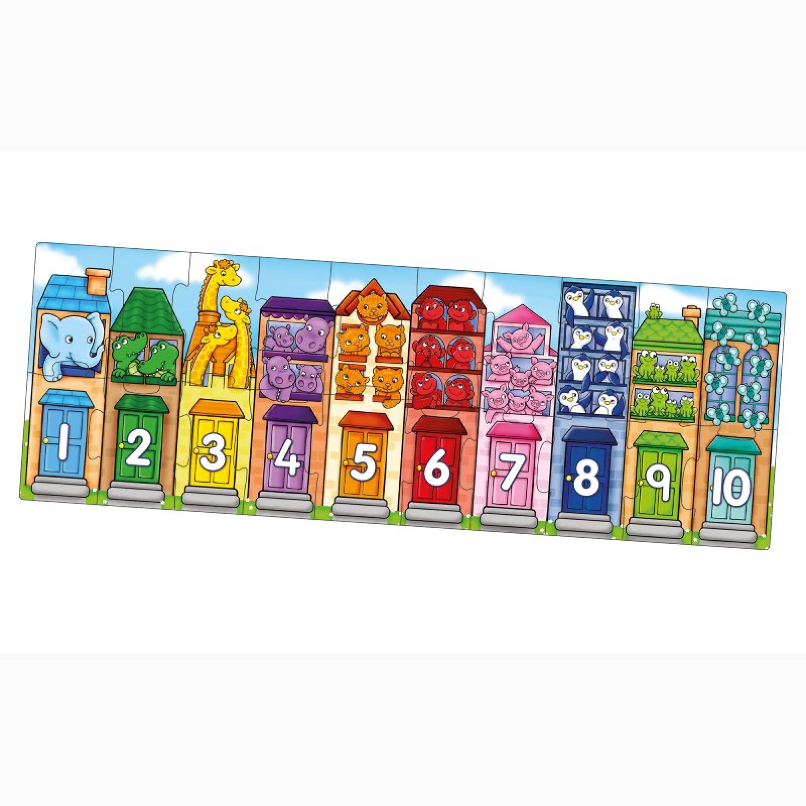 Number Street - 20 Piece Jigsaw Puzzle By Orchard Toy 2+ thumbnails