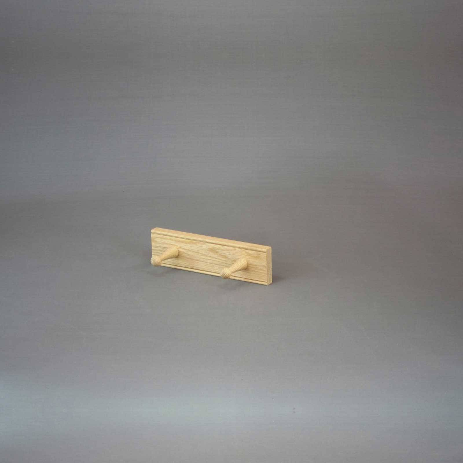 Oak 2 Peg Rail Shaker Style 25.5cm x 9cm x 7cm thumbnails