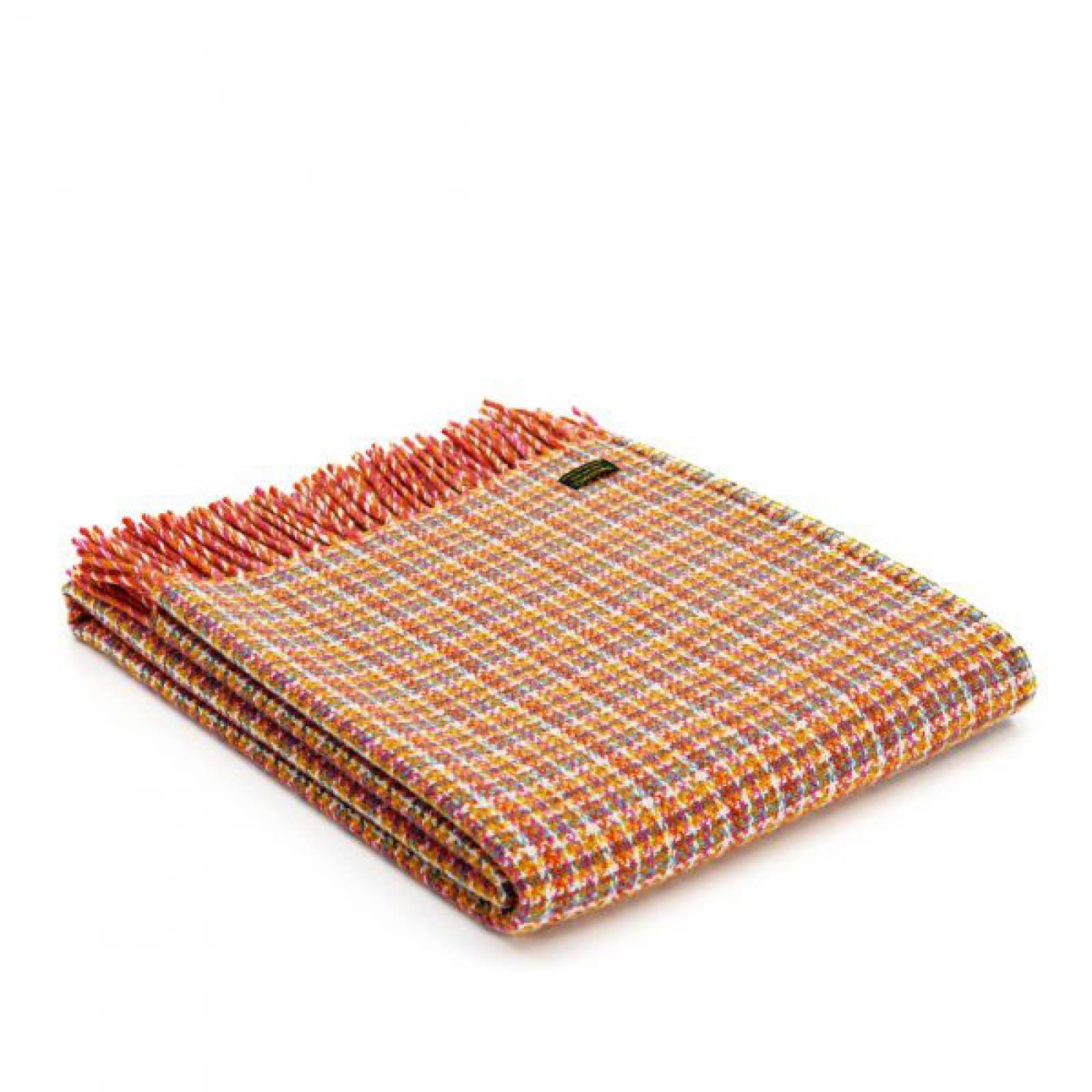 Festival Oasis Orange Fringed Picnic Blanket Carry Handle