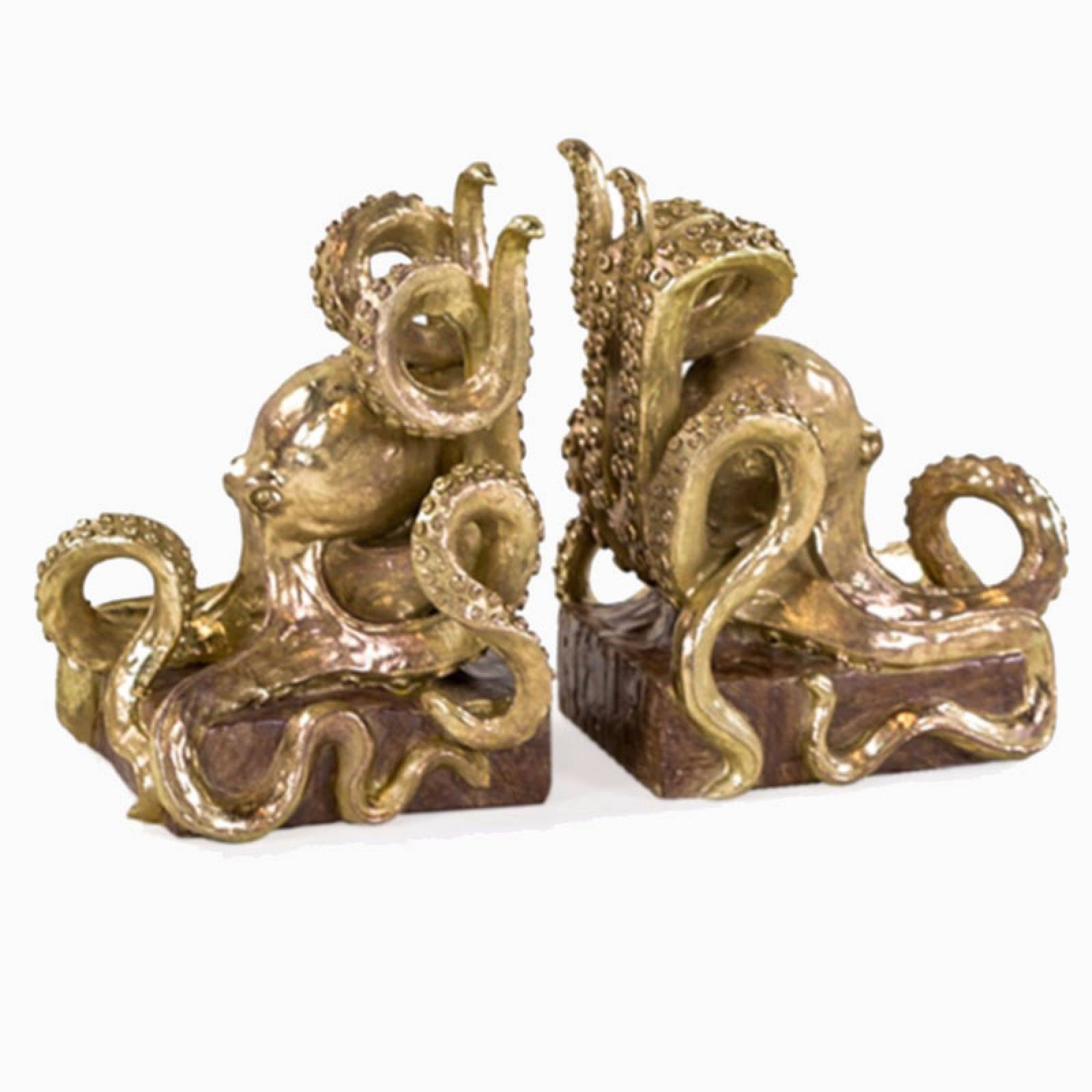 Gold Octopus Bookends thumbnails