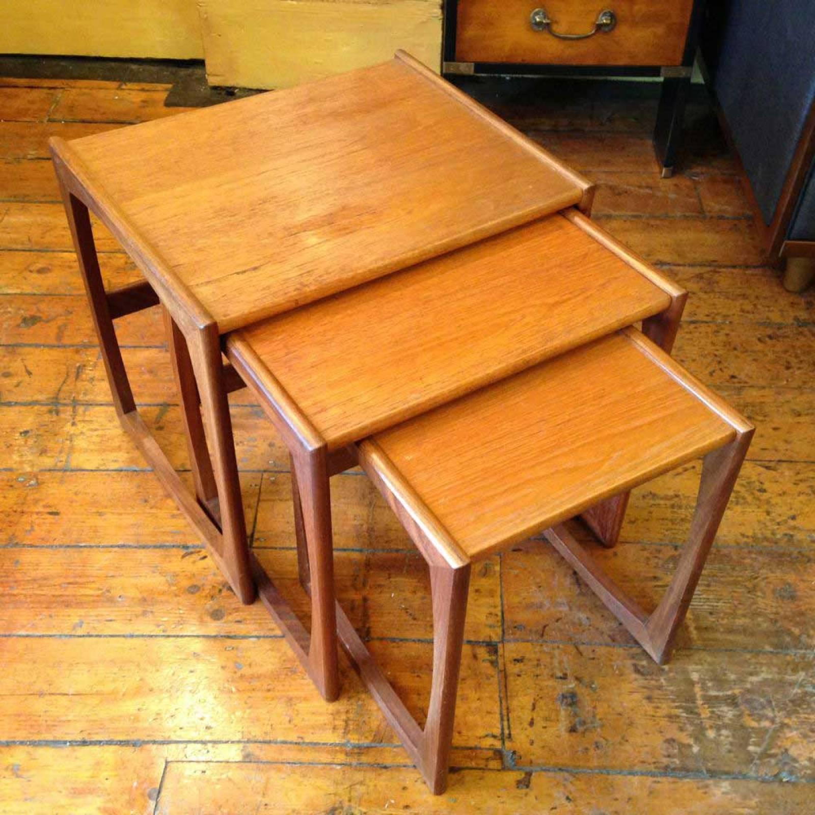 1960s G Plan Nest of 3 Teak Coffee Tables thumbnails