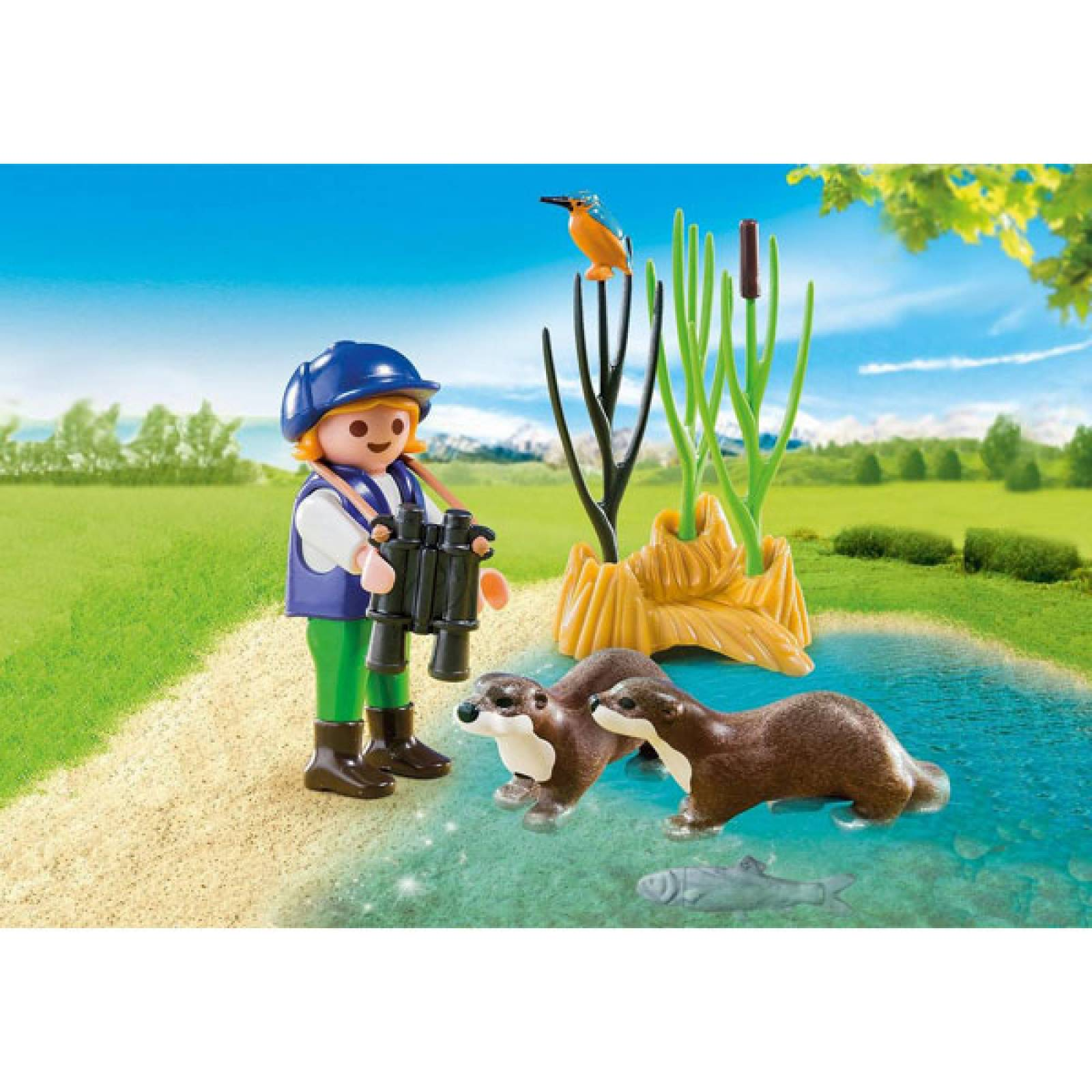 Young Explorers With Otters Playmobil 5376