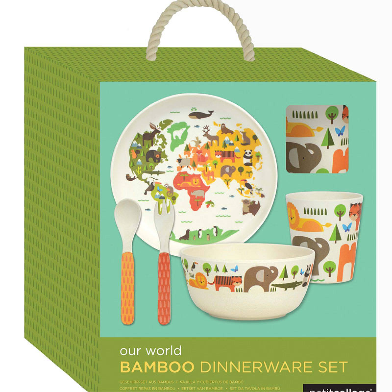 Children's Our World Bamboo Dinnerware Set  By Petit Collage thumbnails