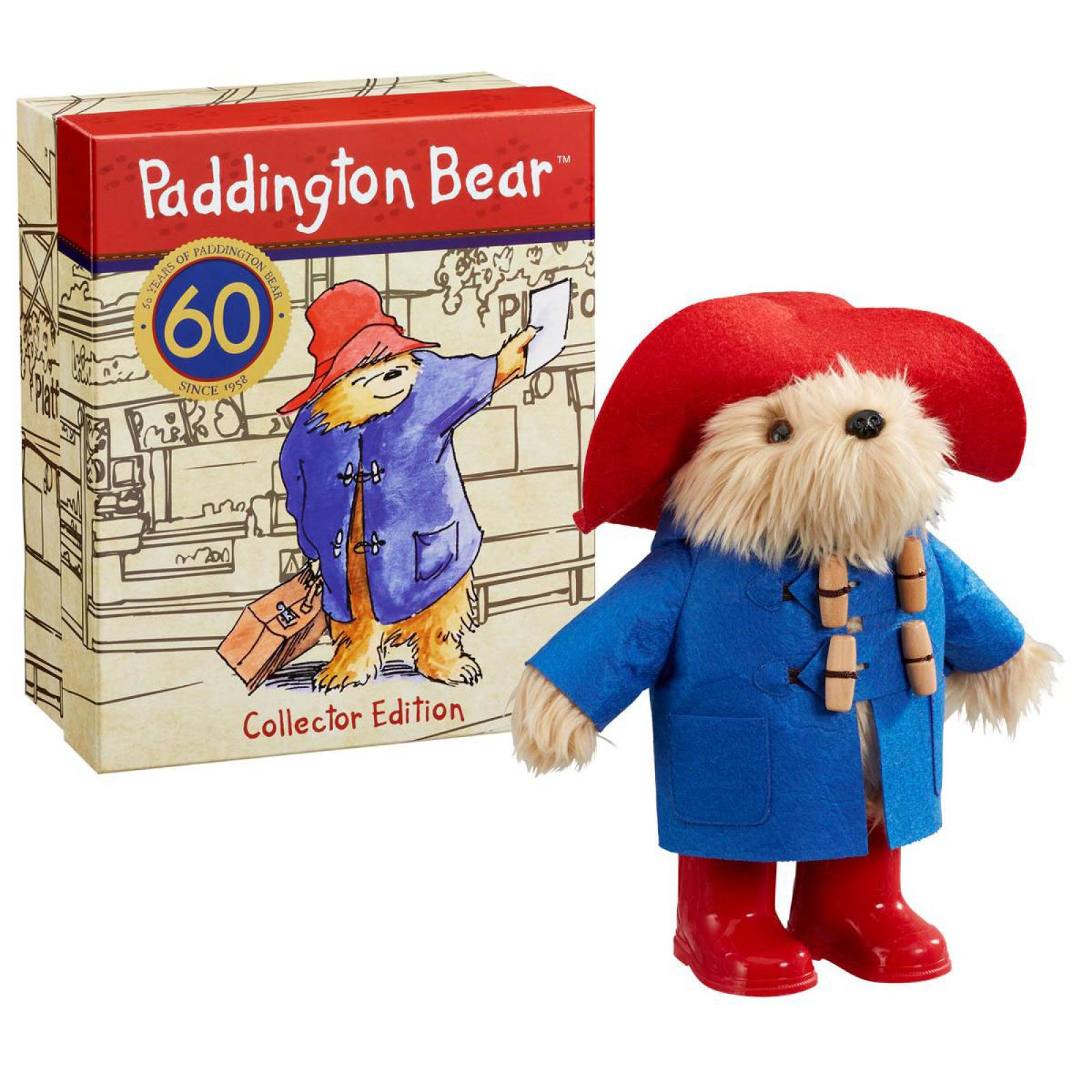 Paddington Soft Toy In Collectors 60th Anniversary Box thumbnails