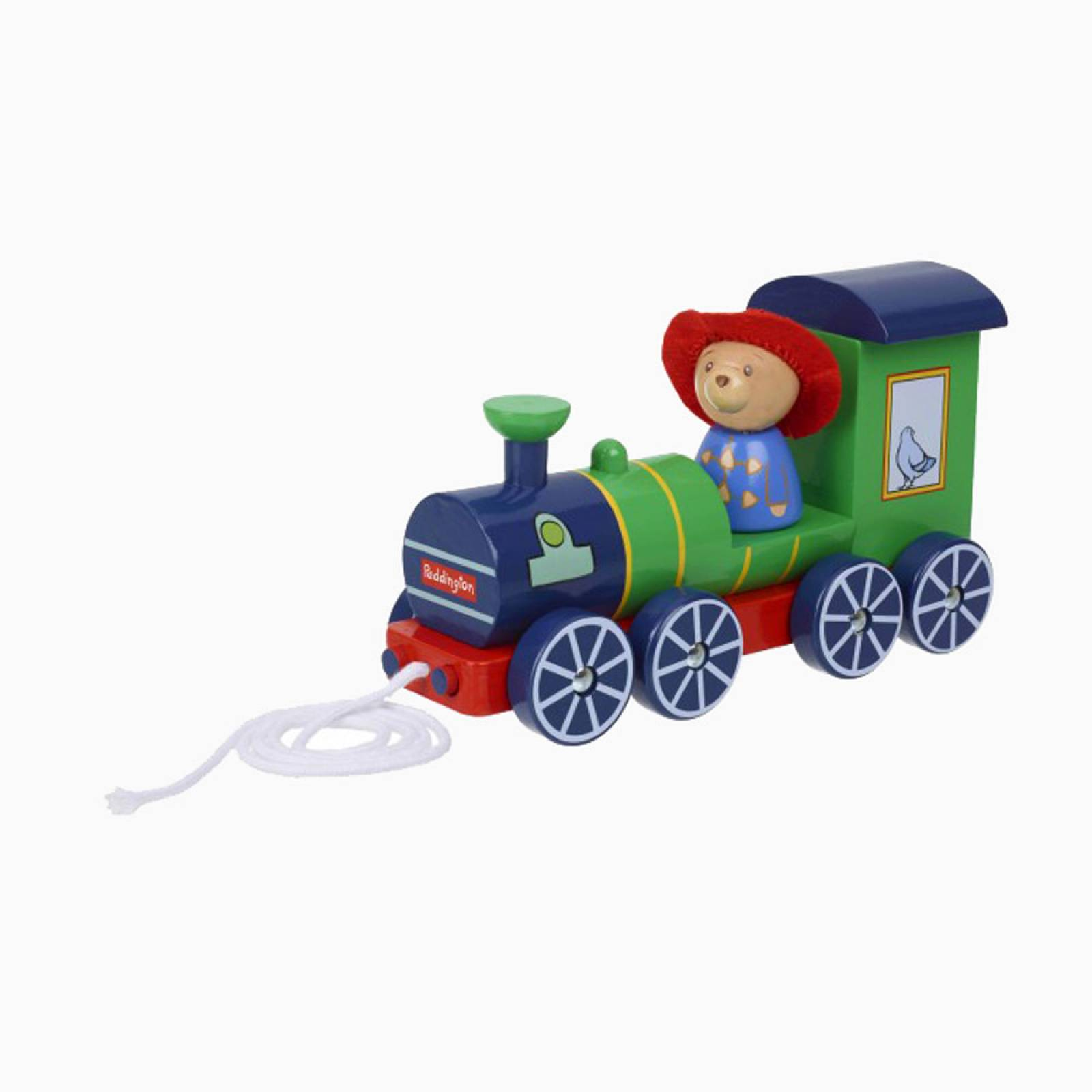 Wooden Paddington Pull Along Steam Train 1+