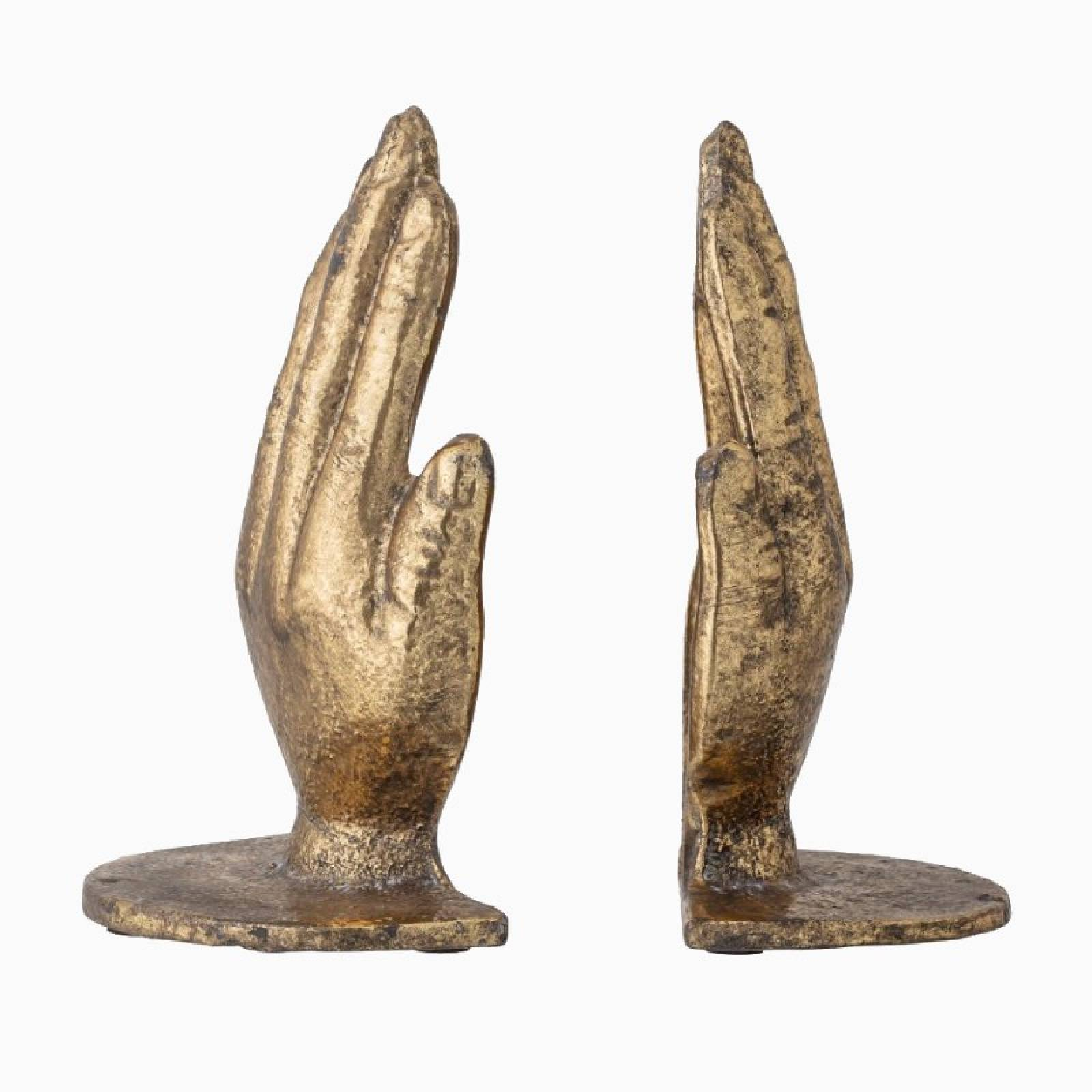 Pair Of Brass Hand Bookends thumbnails