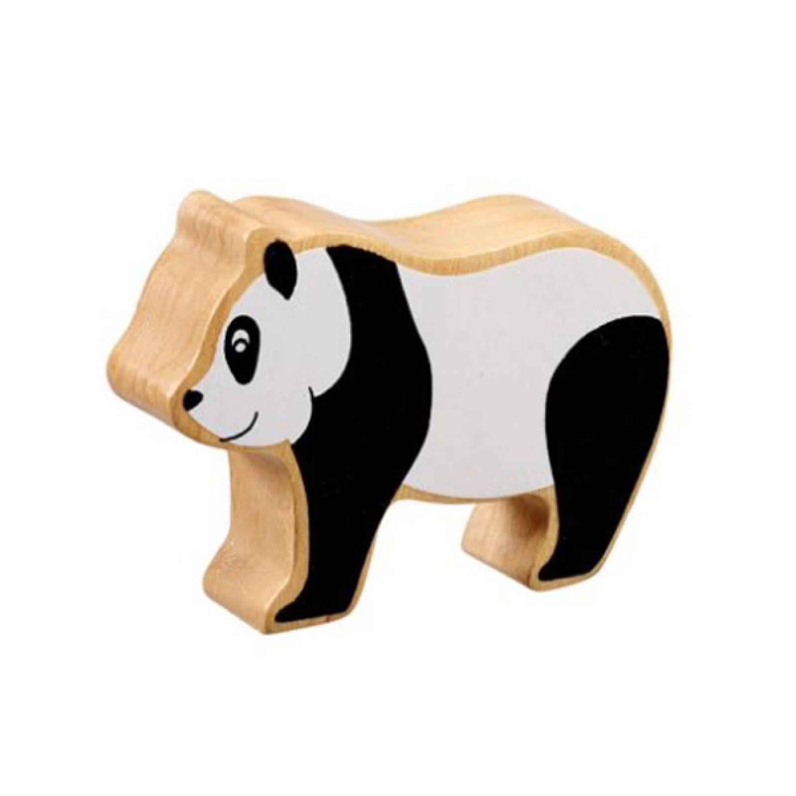Black & White Panda Wooden PAINTED Animal Fairtrade Lanka Kade