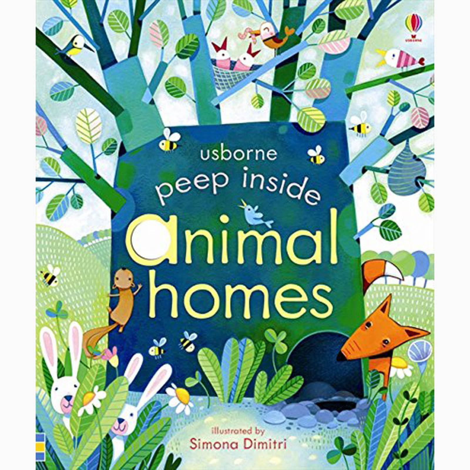 Peep Inside Animal Homes - Board Book