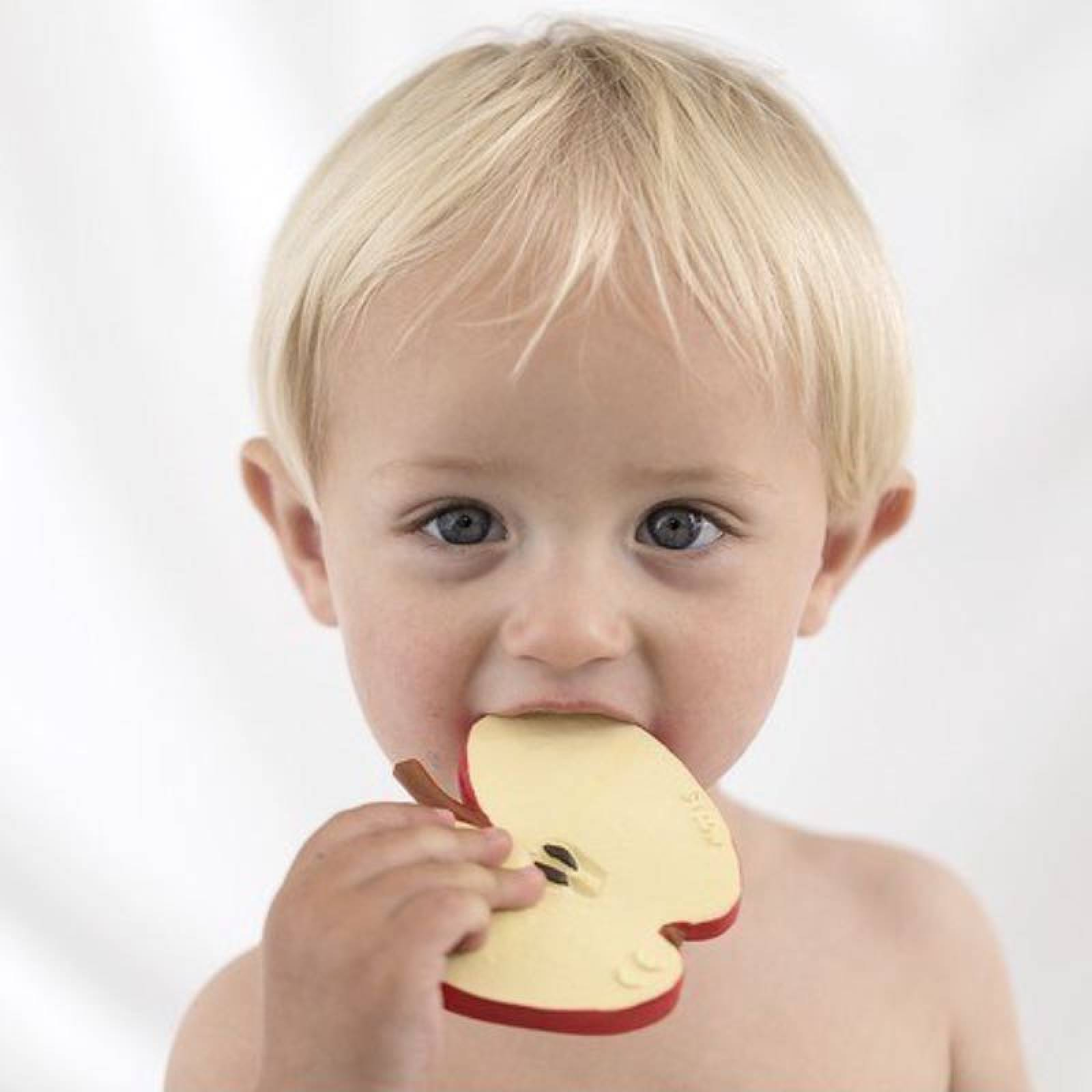 Pepita The Apple - Natural Rubber Teething Toy 0+