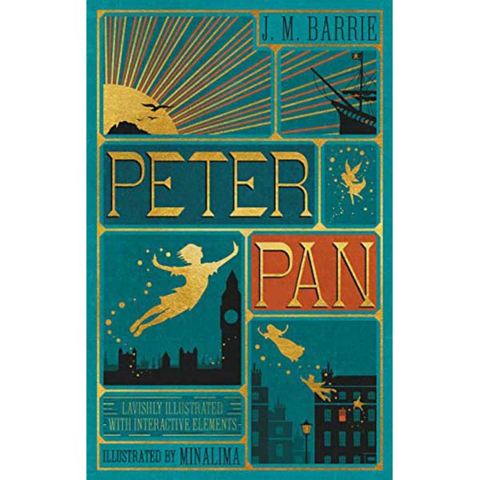Peter Pan By J.M. Barrie Minalima Illustrated Hardback Book