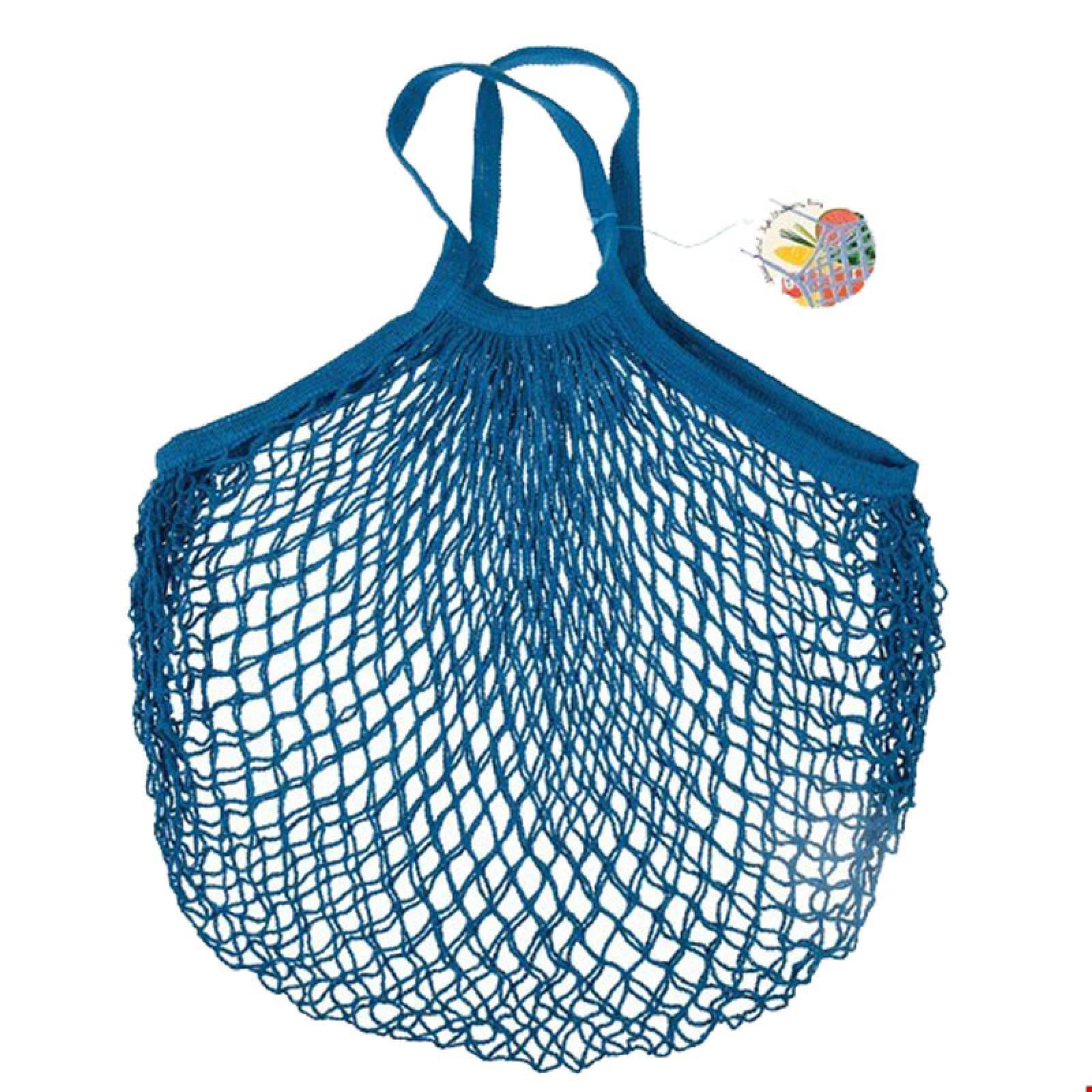 Petrol Blue String Shopping Bag
