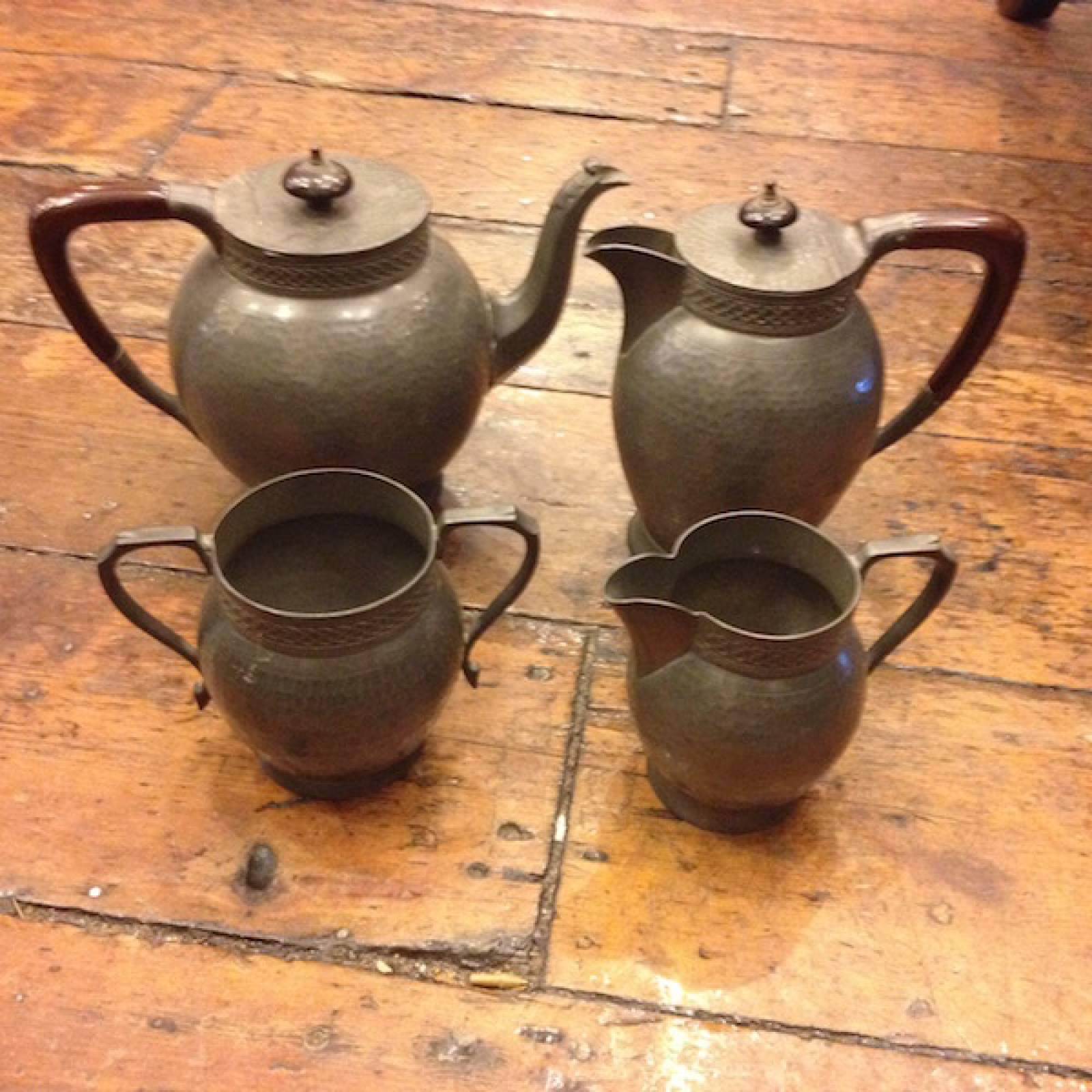 Pewter Tea Set 4 Piece Talbot Pewter