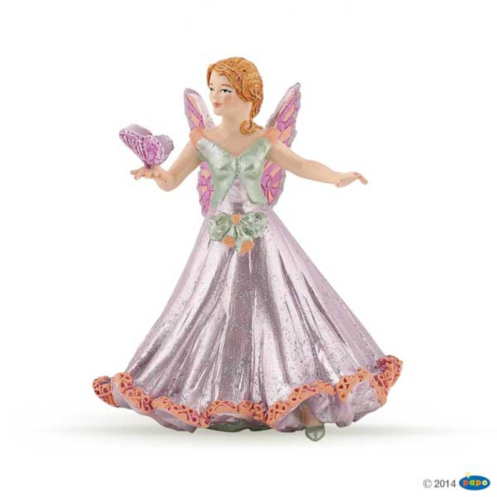 PAPO Pink Elf Fairy With Pink Butterfly
