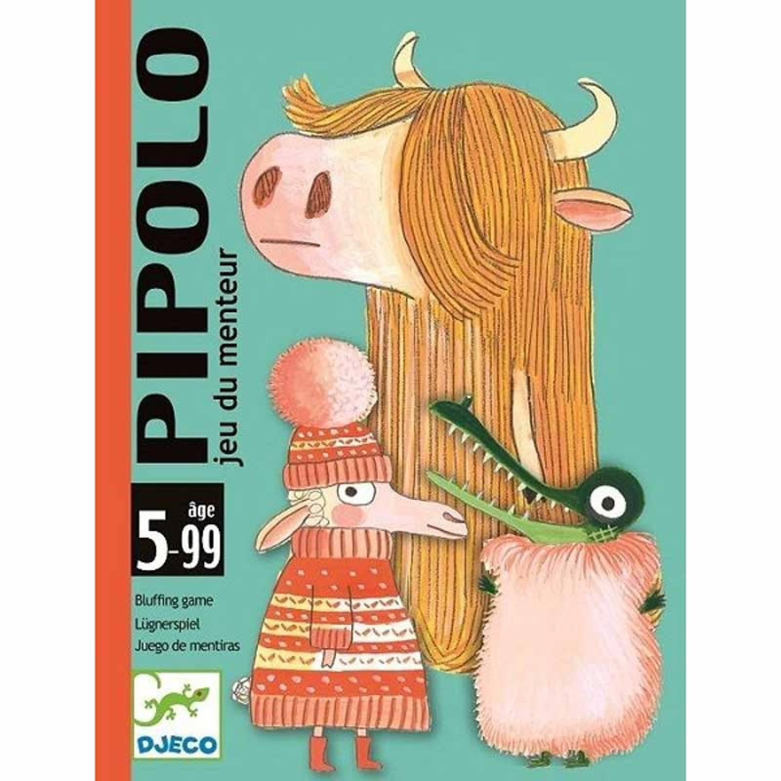 Pipolo Card Game -Bluffing Game, Hairy or Naked? 5-99yrs