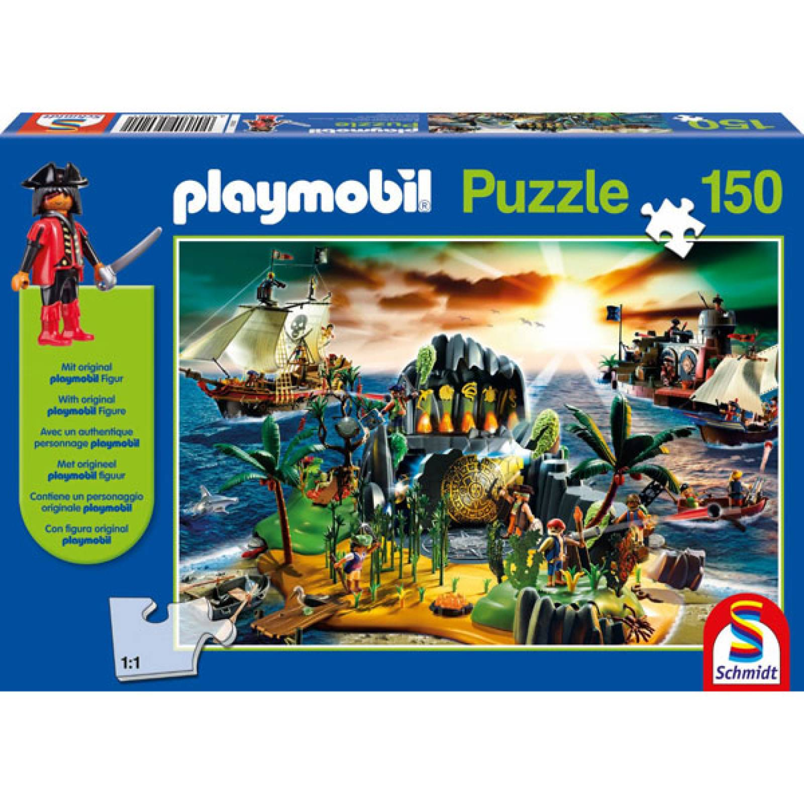 Playmobil Pirate Island 150 Piece Jigsaw Puzzle thumbnails