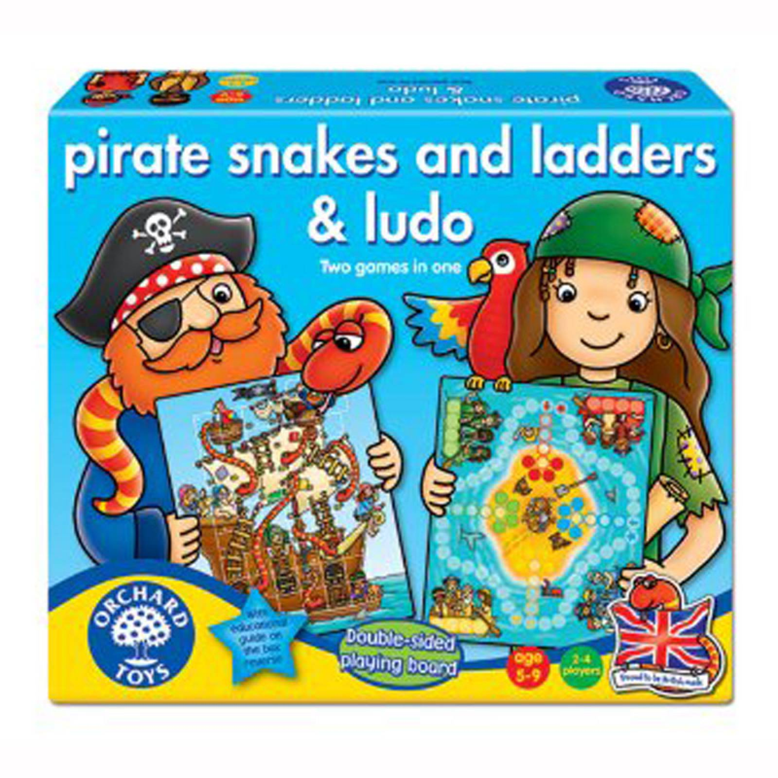 Pirate Snakes and Ladders Game by Orchard Toys 5+