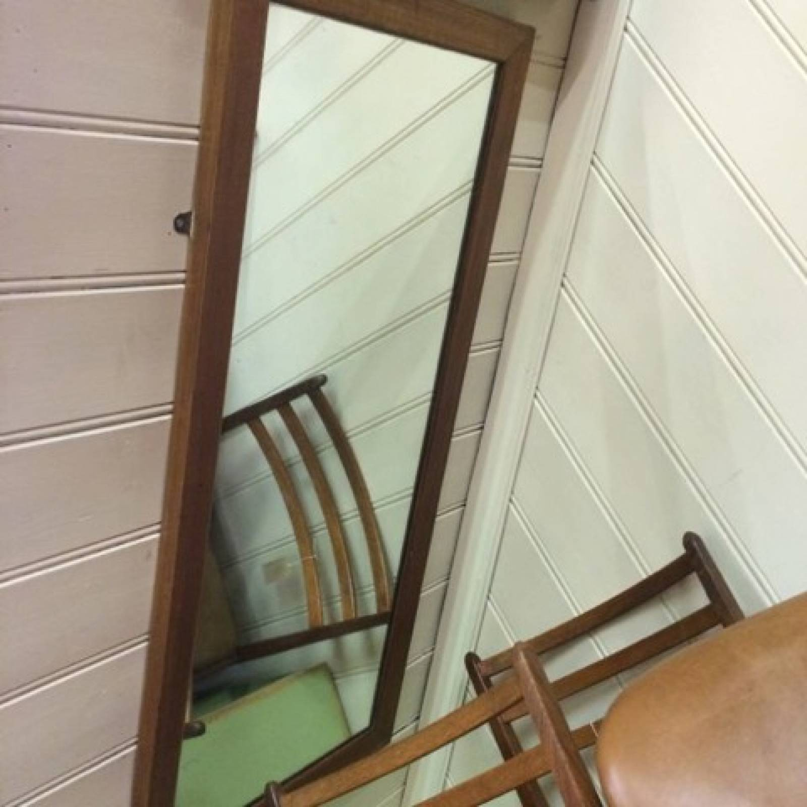 Long Pitch Pine Mirror