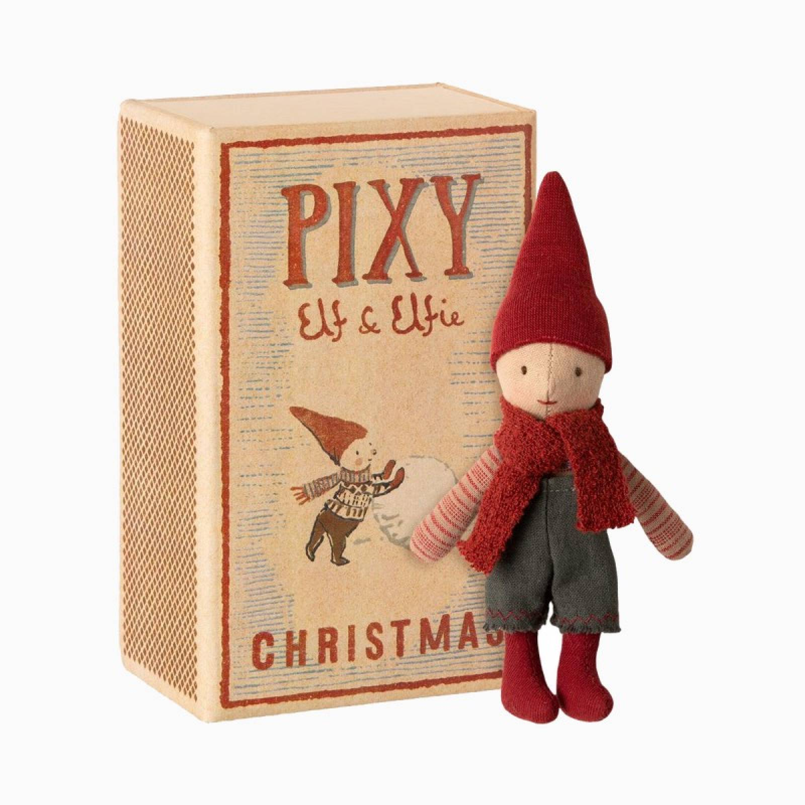 Pixy Elf In A Matchbox Christmas Soft Toy 3+