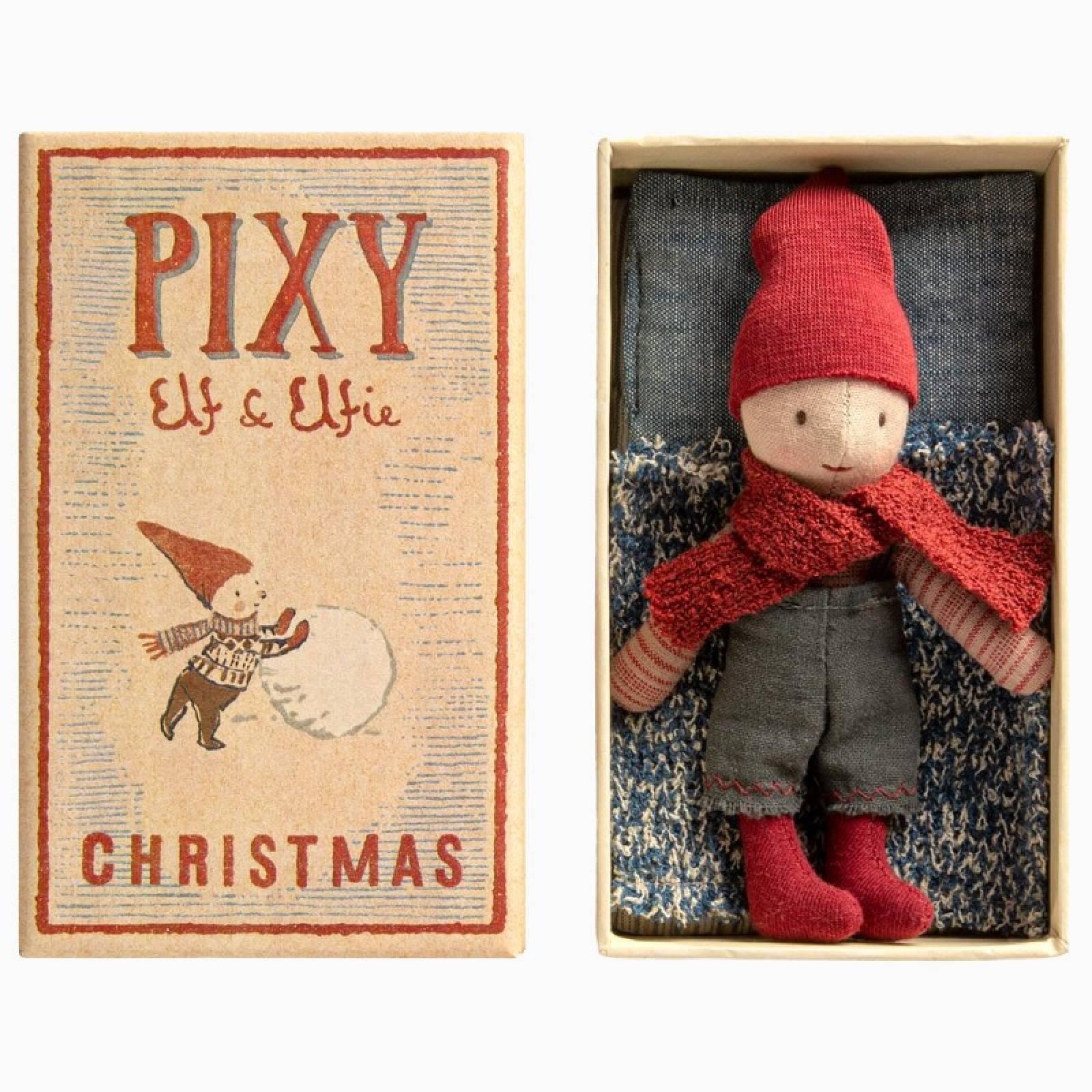 Pixy Elf In A Matchbox Christmas Soft Toy 3+ thumbnails