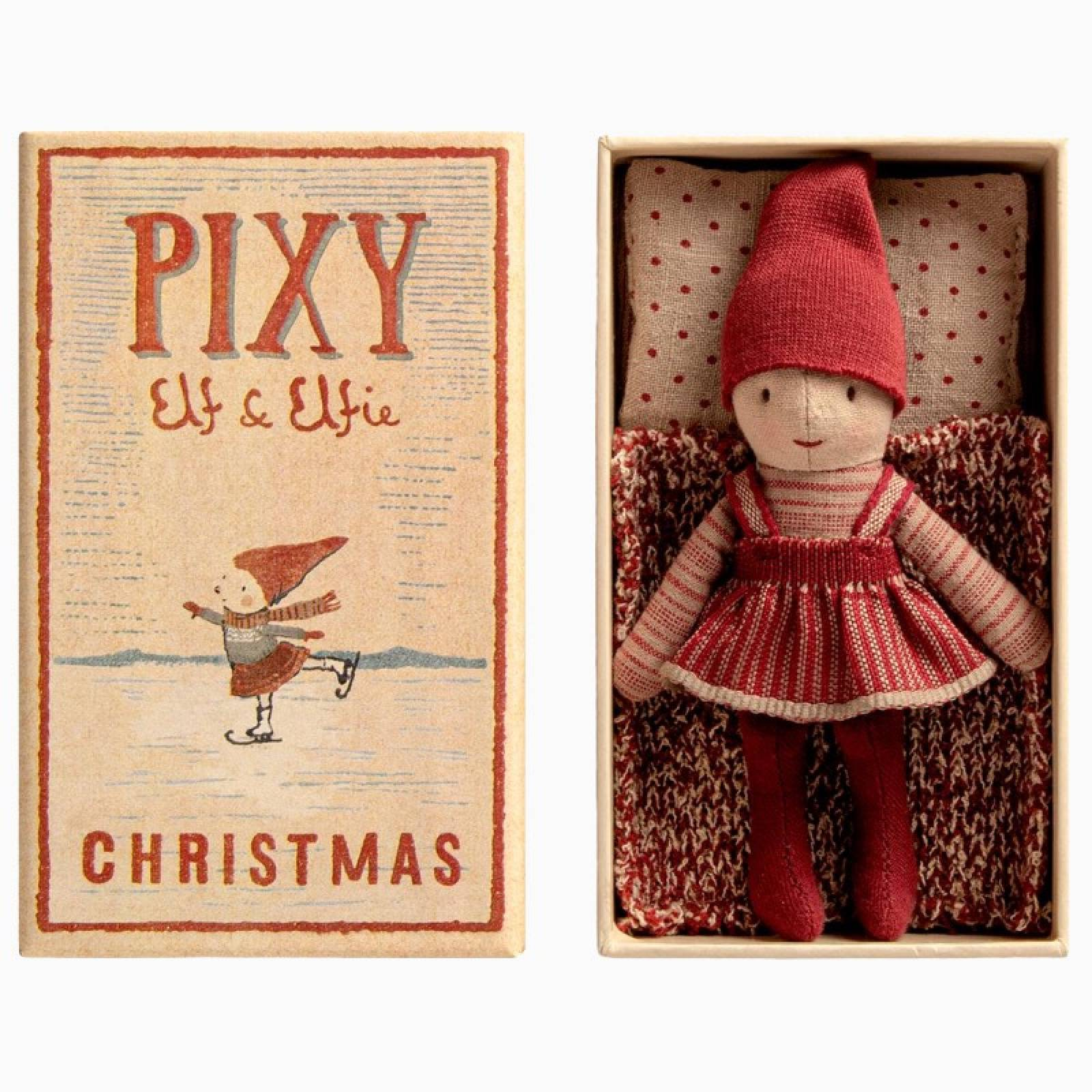 Pixy Elfie In A Matchbox Christmas Soft Toy 3+ thumbnails