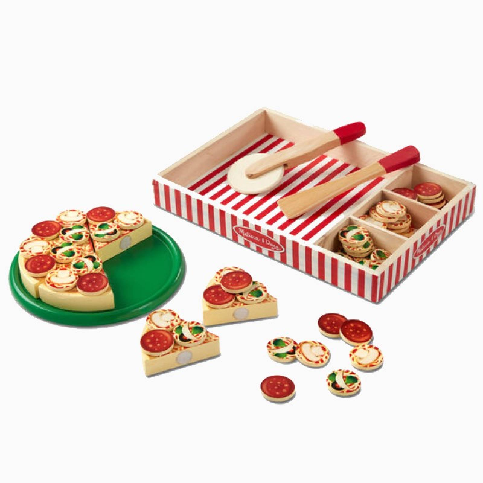 Pizza Party Wooden Play Food Set 2+