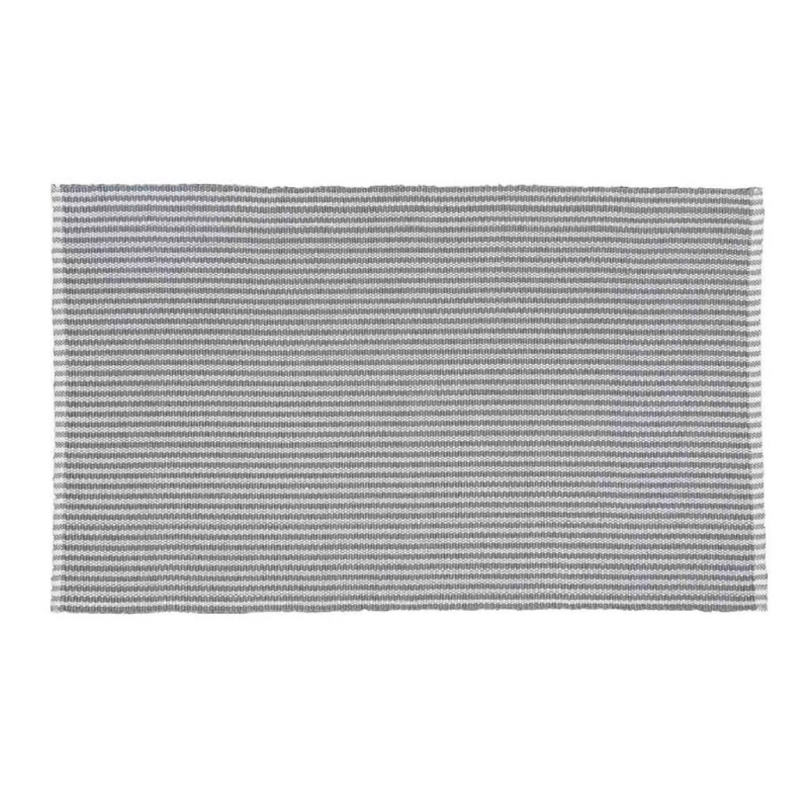 Polperro Stripe In Dove Grey 110x60cm Recycled Bottle Rug thumbnails