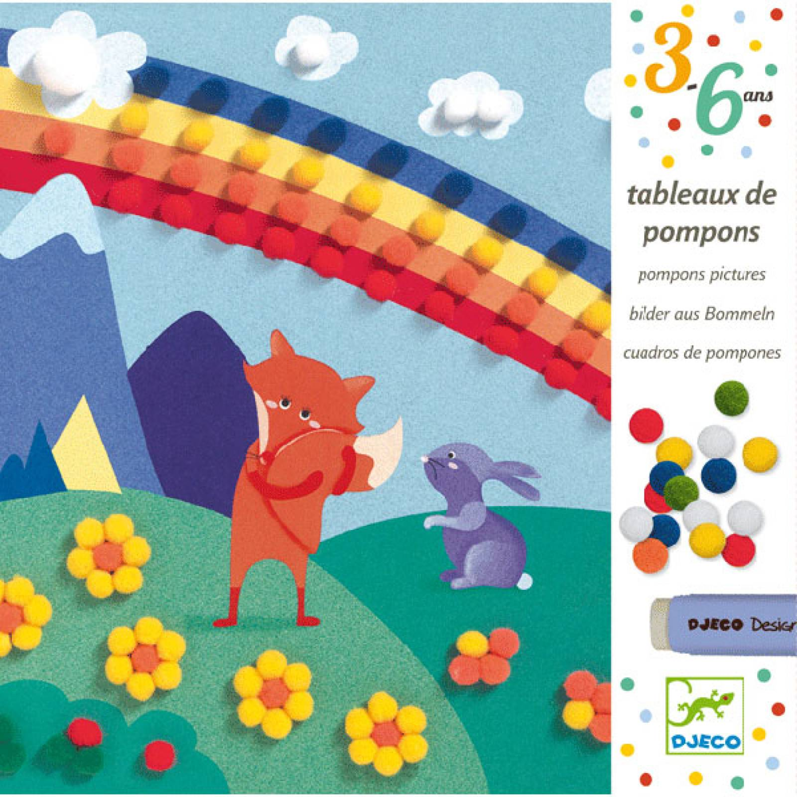 Sweet Nature - Pompom Pictures Creative Kit By Djeco 3-6yrs