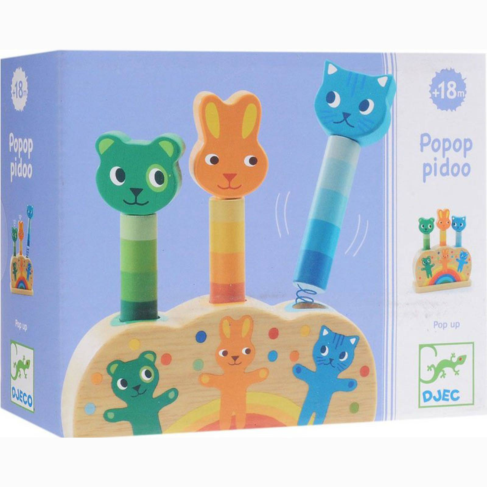 Popop Pidoo Wooden Pop Up Toy By Djeco 1+