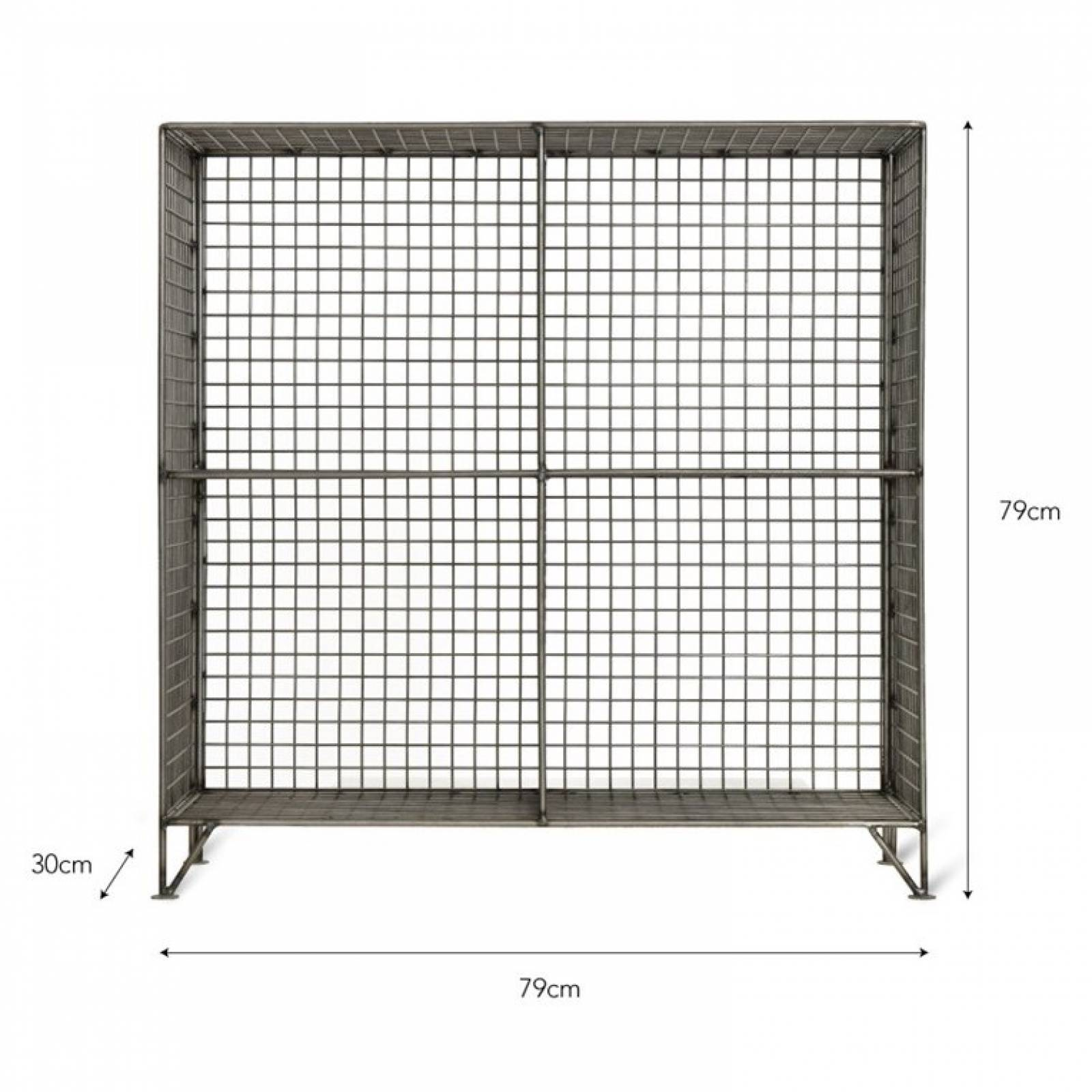 Portobello Wire Shelving Rack With 4 Holes thumbnails