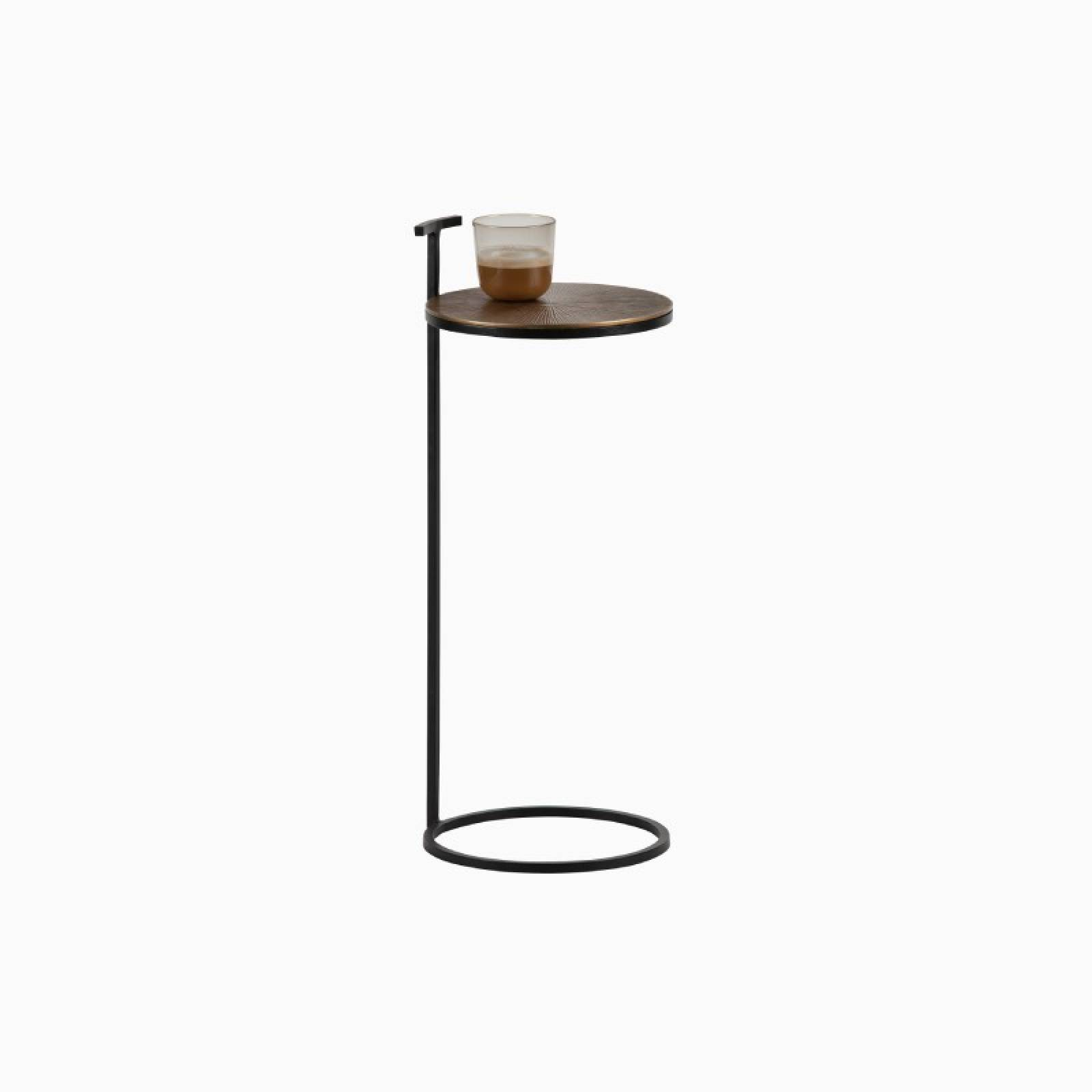 Position Circular Side Table With Brass Shelf thumbnails