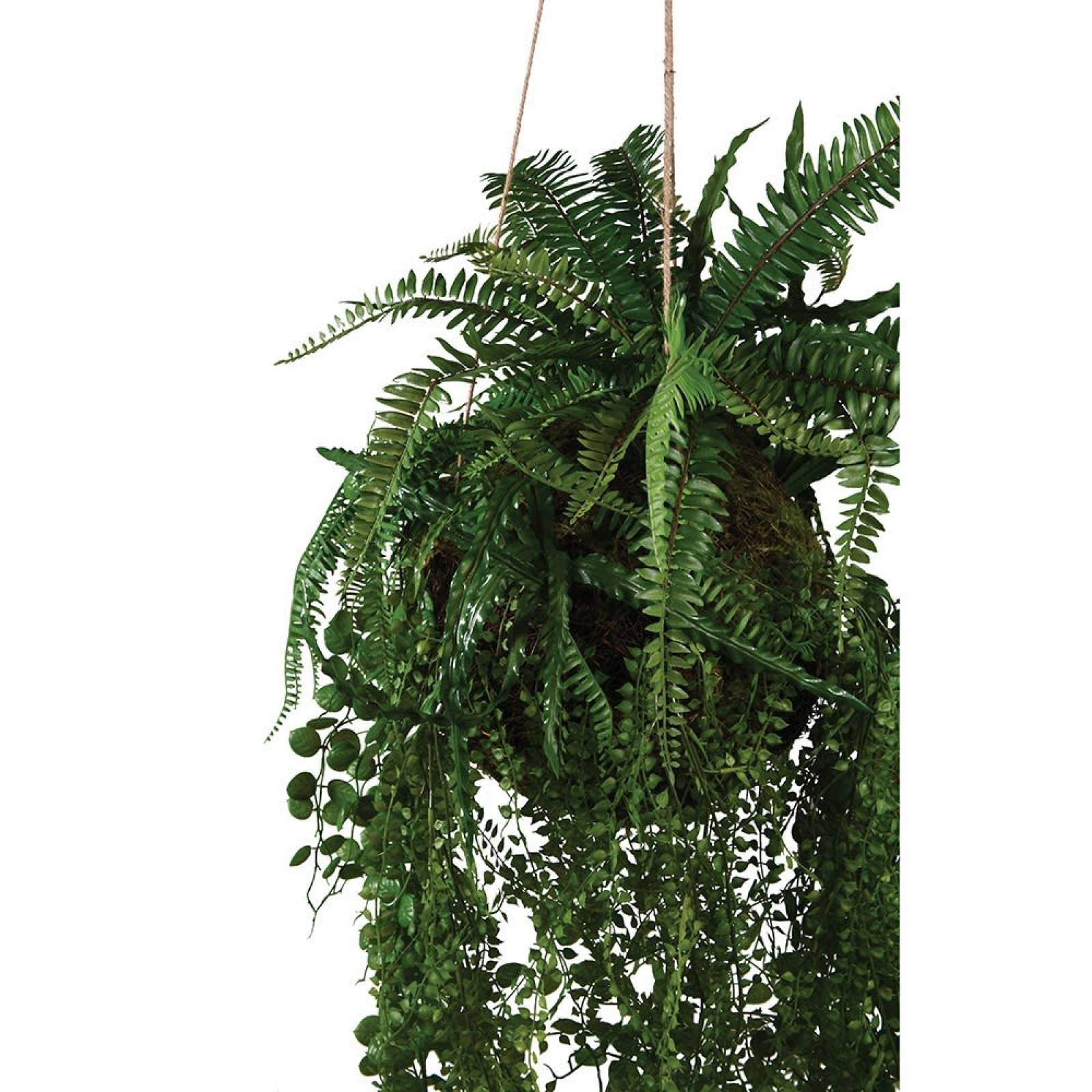 Mixed Fern Faux Hanging Ball Plant thumbnails