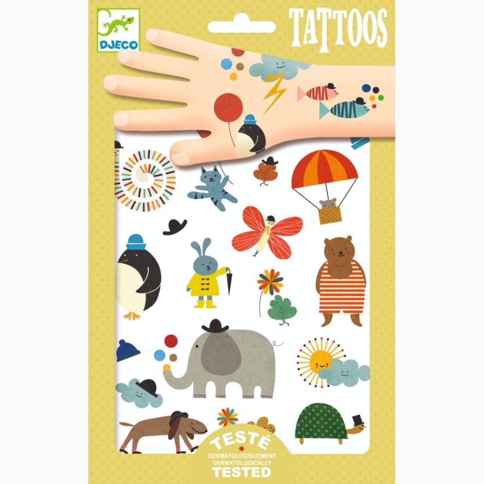 Pretty Little Things Temporary Tattoo Pack By Djeco 3+