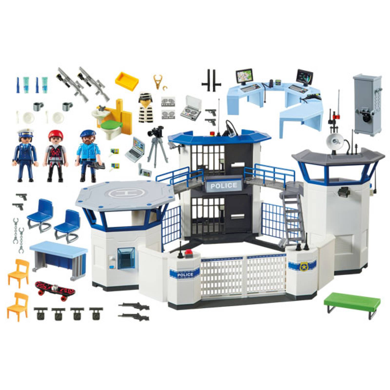 Police Headquarters with Prison City Action Playmobil 6919 thumbnails