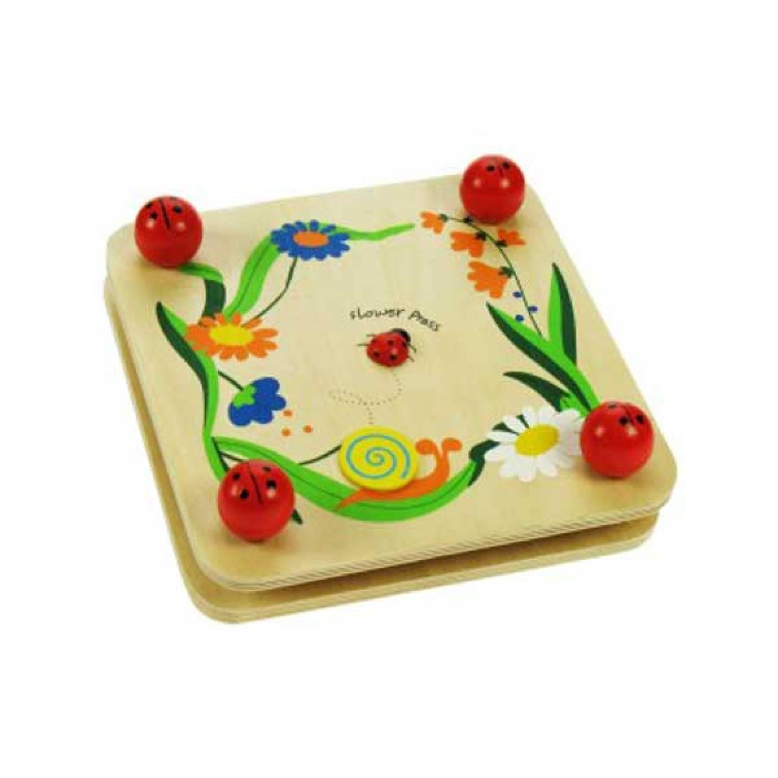 Wooden Flower Press With Ladybird Screw Corners