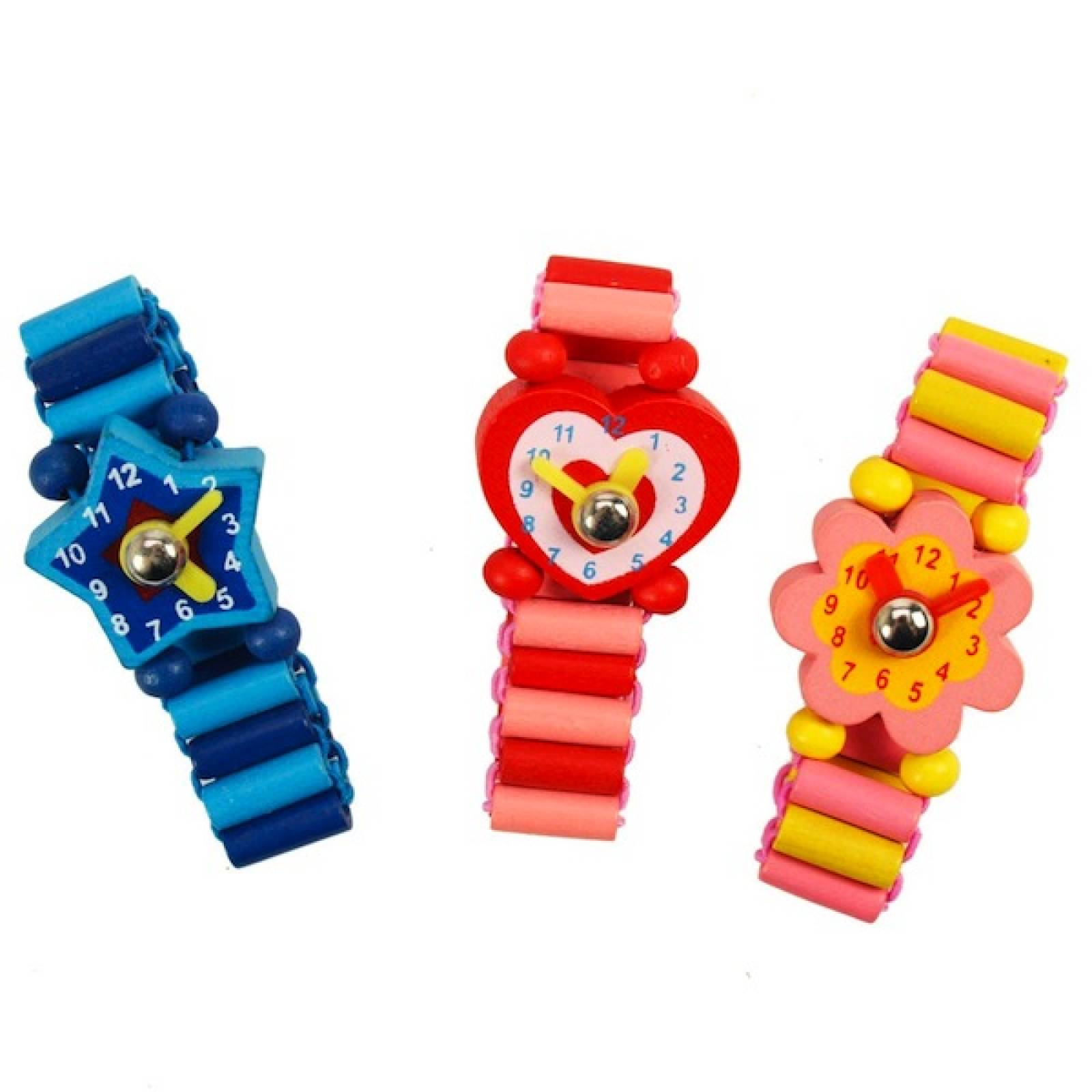 Wooden Watches With Shaped Face And Moveable Hands.