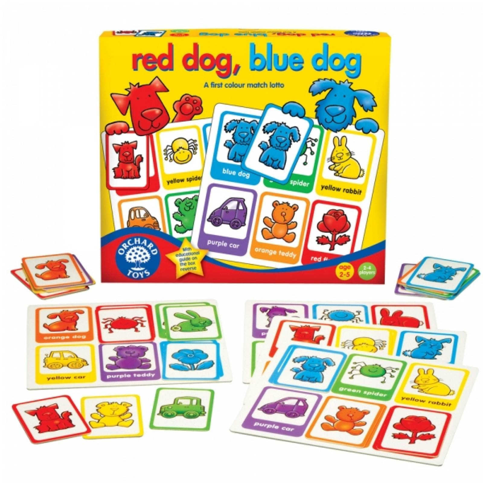 Red Dog Blue Dog By Orchard Toys 2+