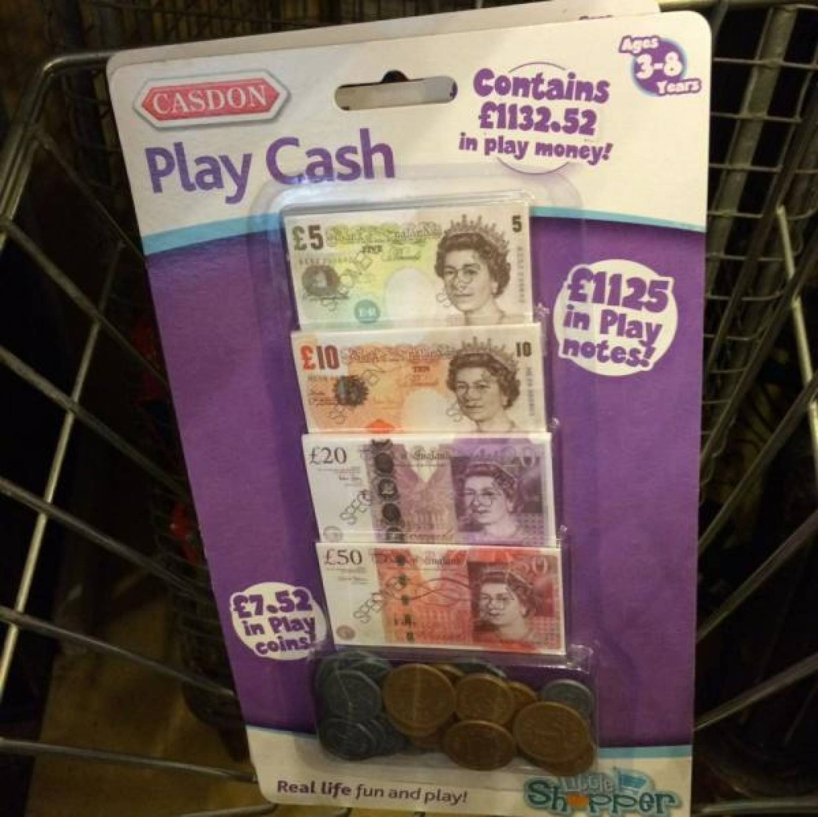 Play Cash Money Play Notes English Sterling Toy Money Till thumbnails