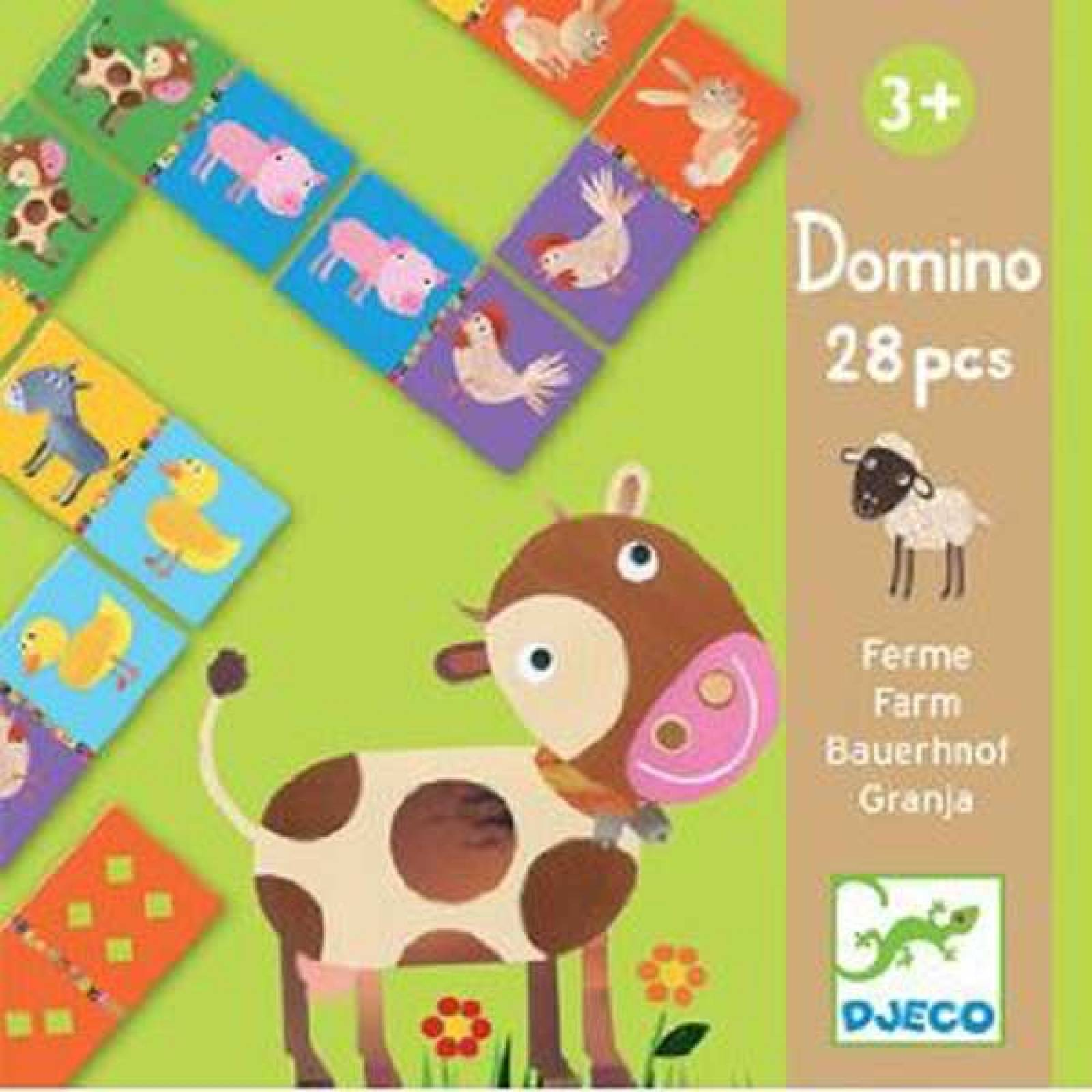 SPLIT Farm Animal Dominoes 28pc By Djeco Age 3yr+ thumbnails