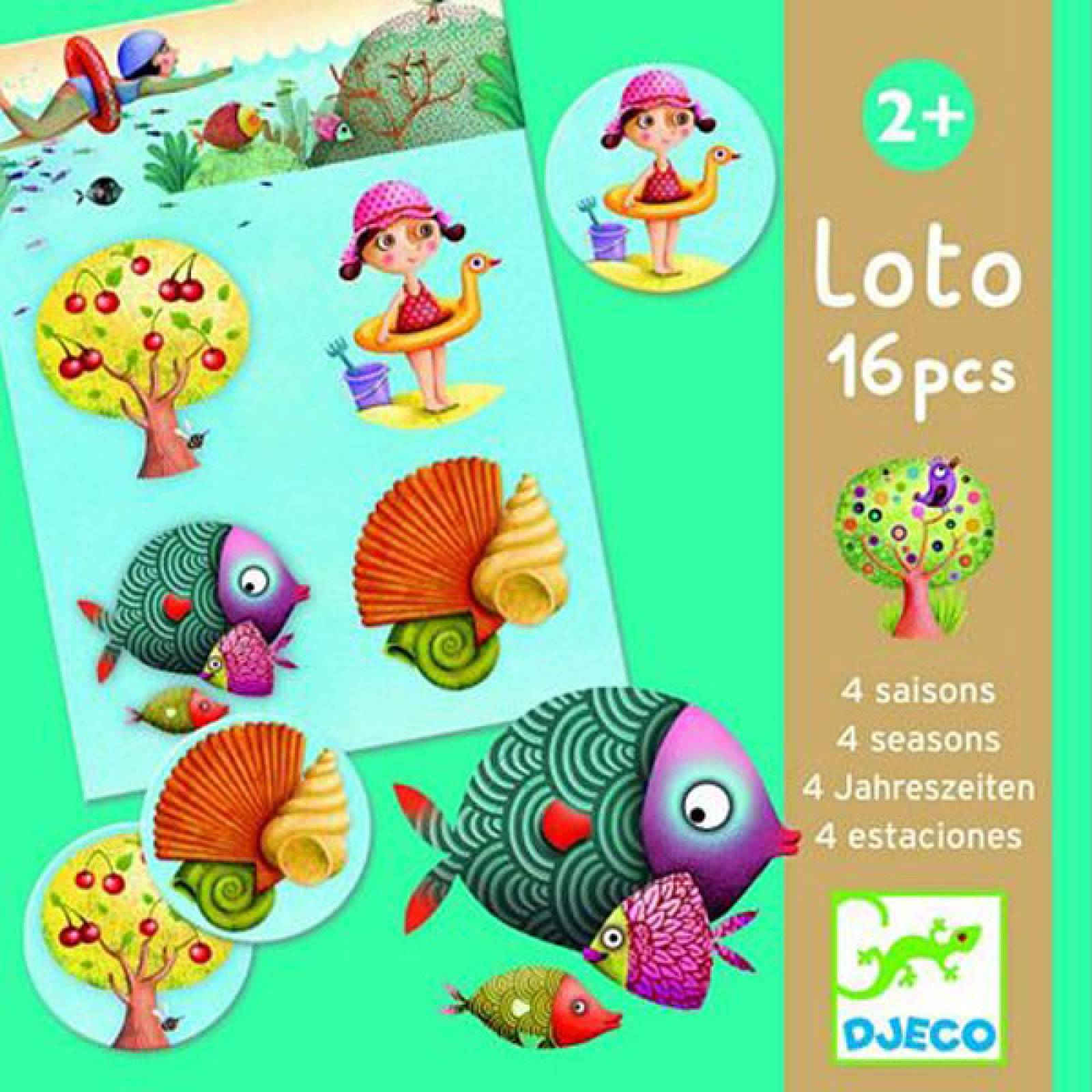 4 Seasons Loto Game 16pc By Djeco 2yr+ thumbnails