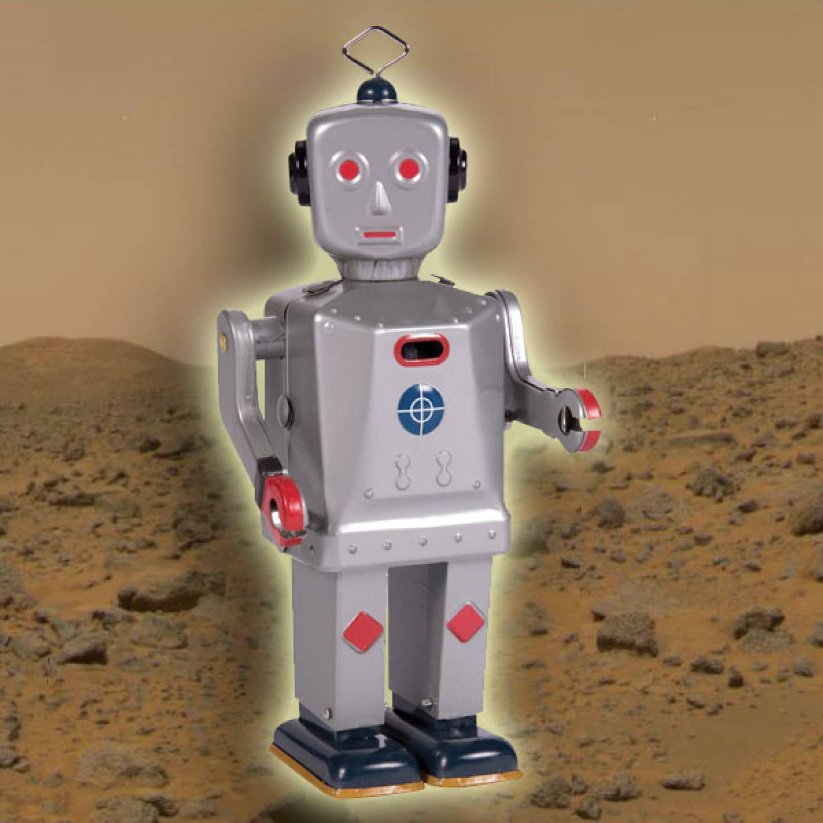 Sparkling Mike Sparking Robot Tin Toy. 20cm. thumbnails